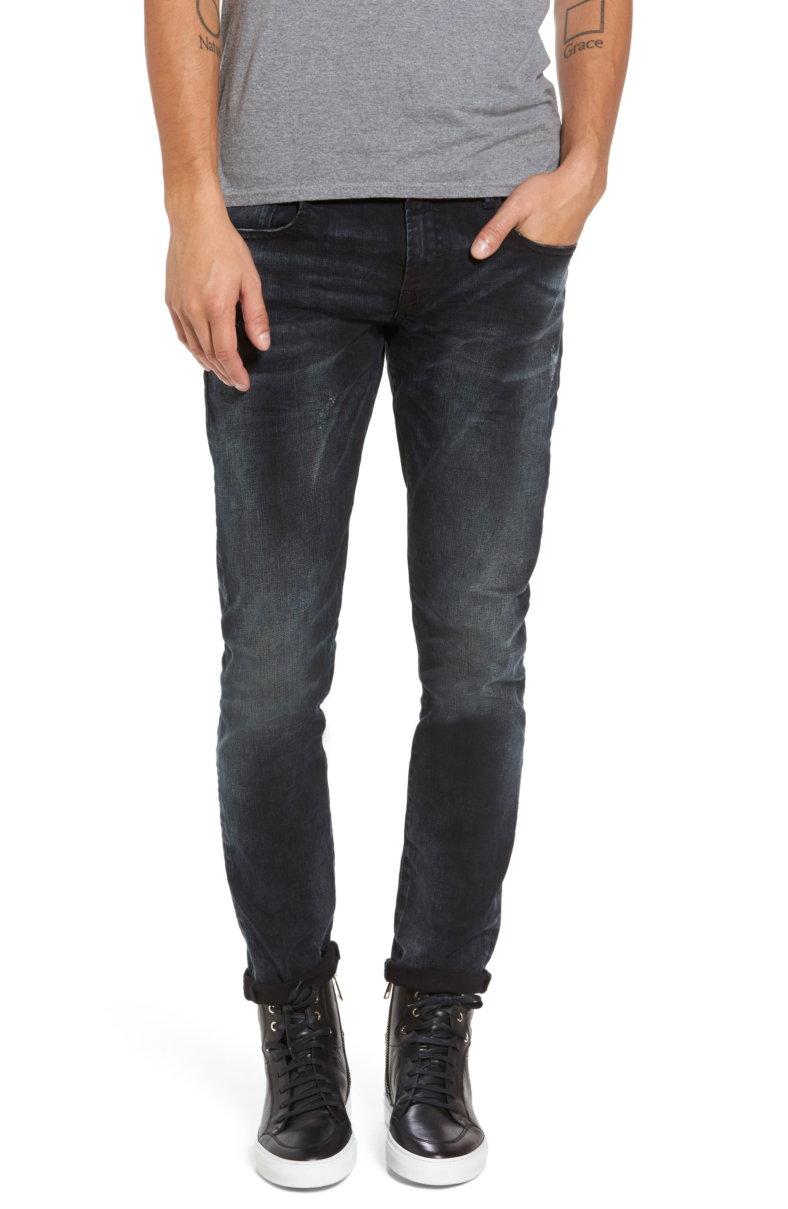 Tye Slim Fit Jeans,                             Main thumbnail 1, color,                             Sander