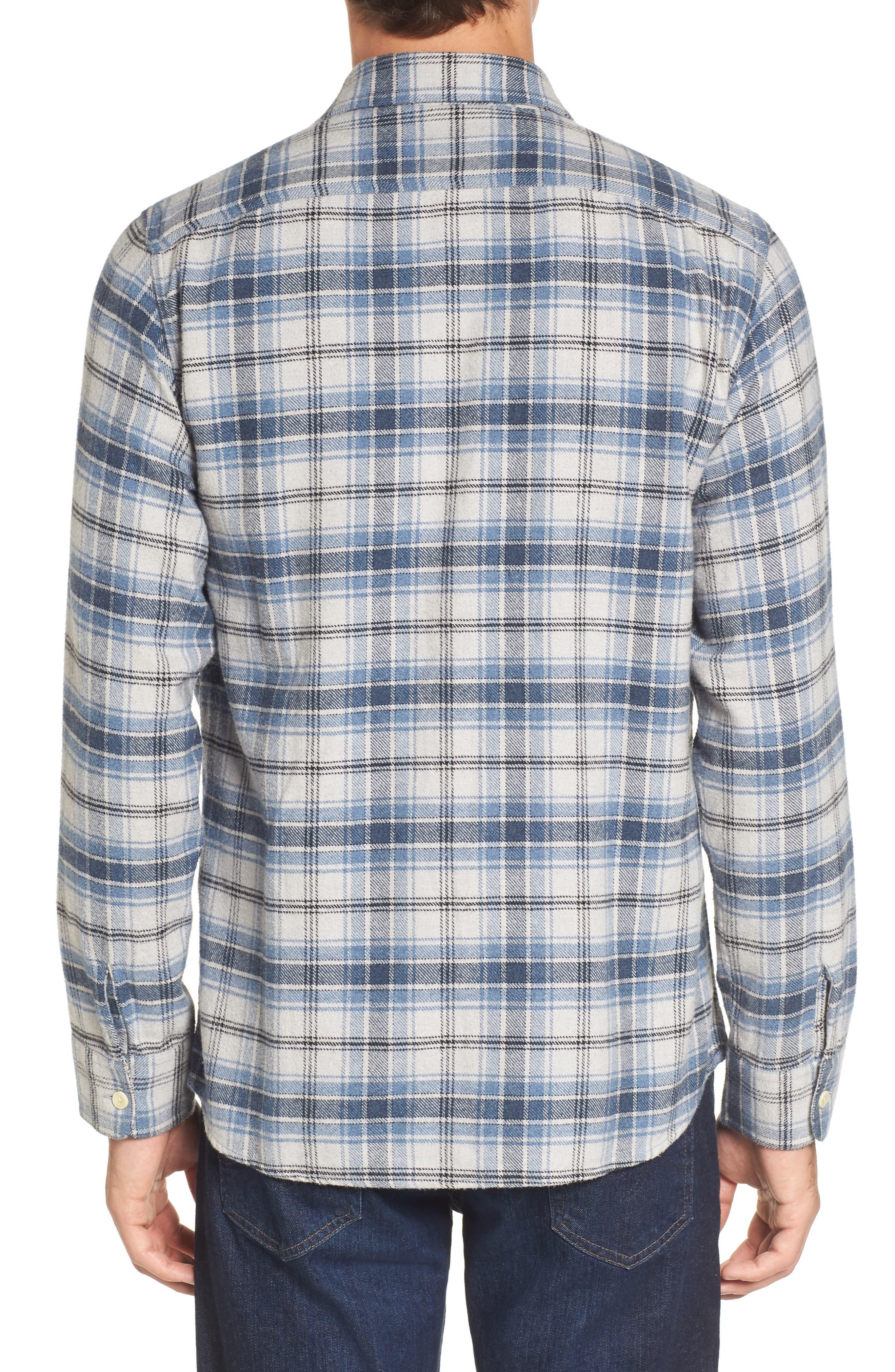 Campton Heritage Plaid Flannel Shirt,                             Alternate thumbnail 2, color,                             Blue Stone