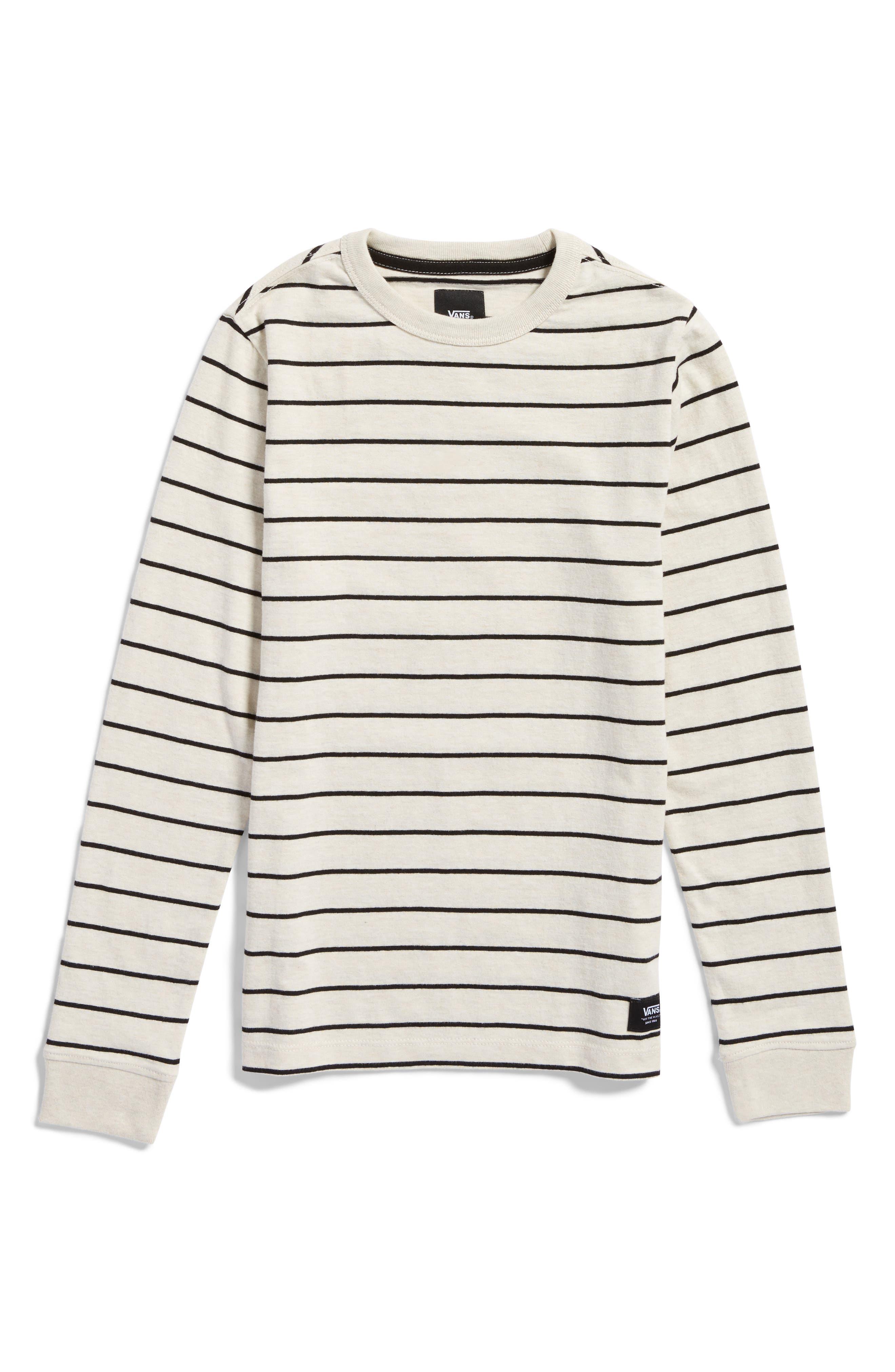 Milton Stripe Long Sleeve T-Shirt,                         Main,                         color, Oatmeal Heather