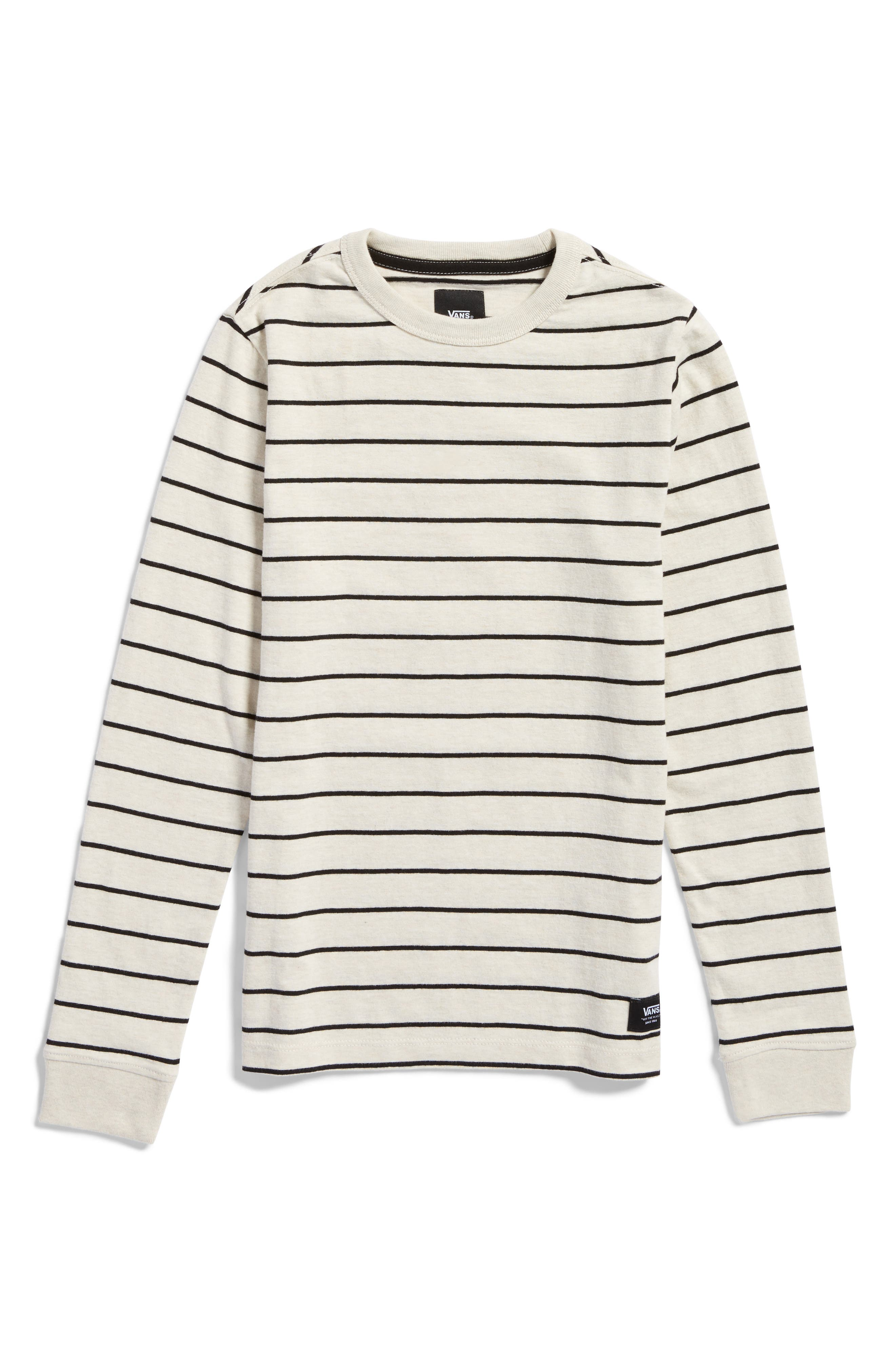Vans Milton Stripe Long Sleeve T-Shirt (Big Boys)
