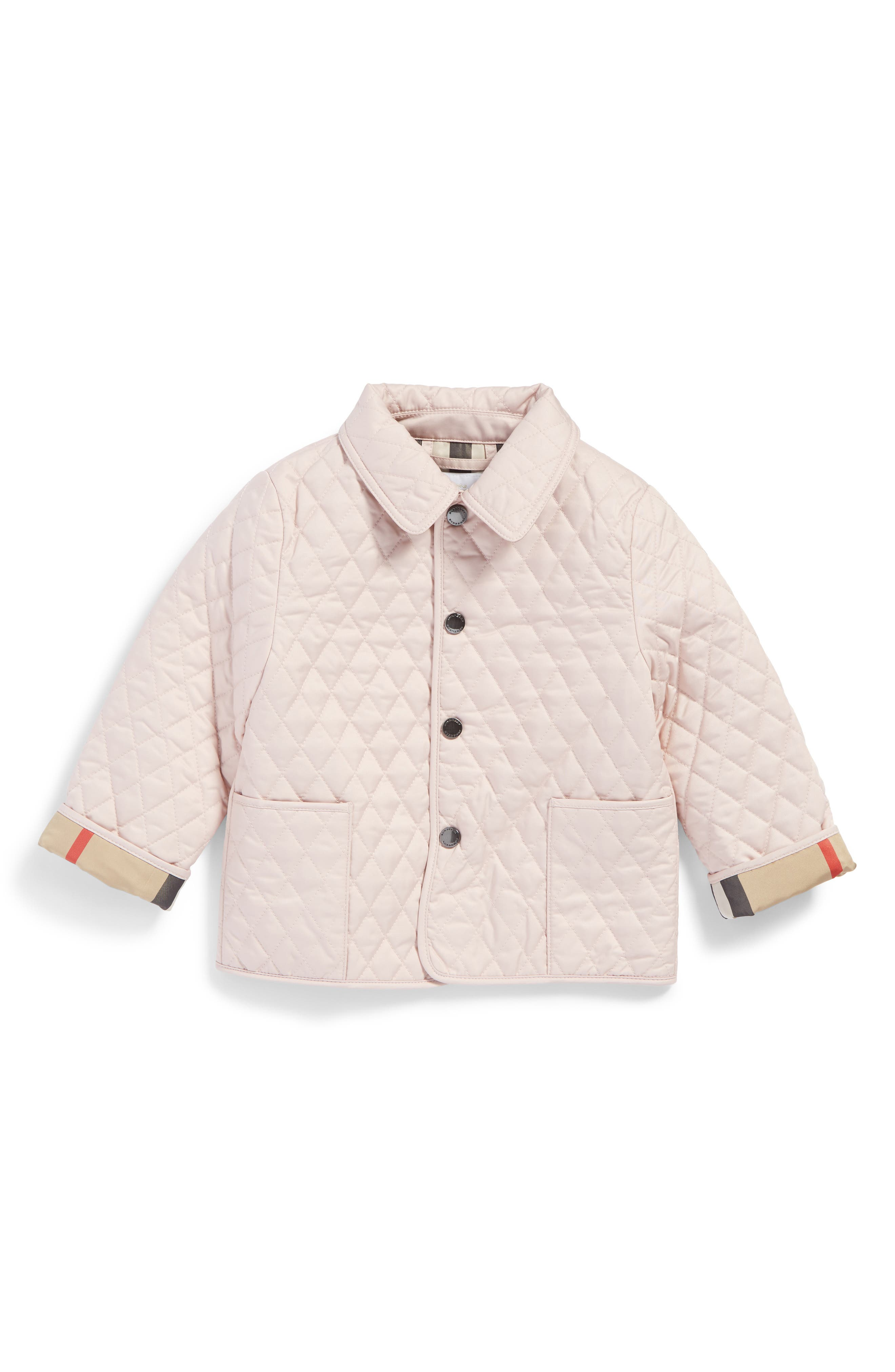 Main Image - Burberry Colin Quilted Jacket (Baby Girls)