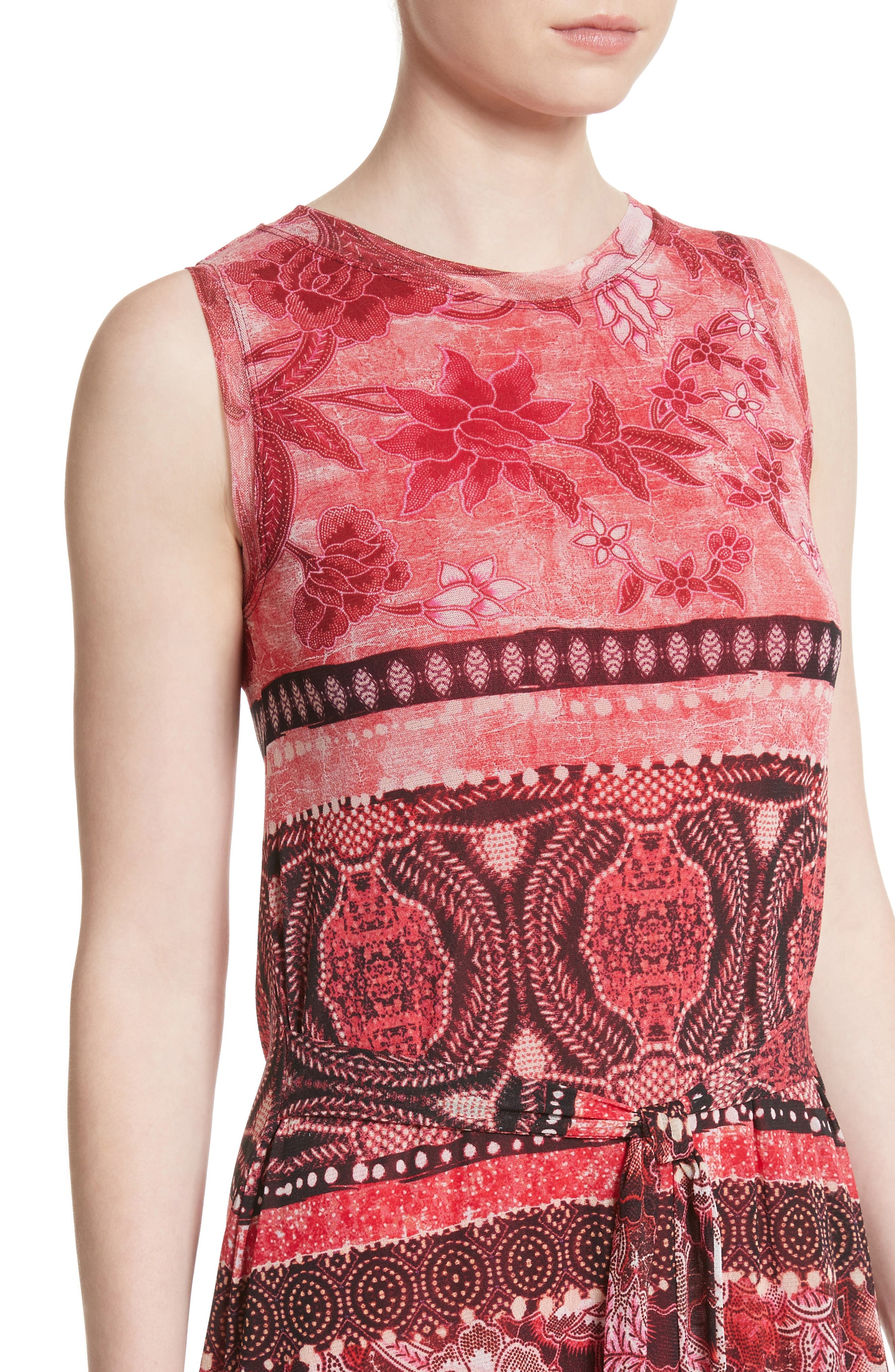 Alternate Image 4  - Fuzzi Print Tulle Midi Dress