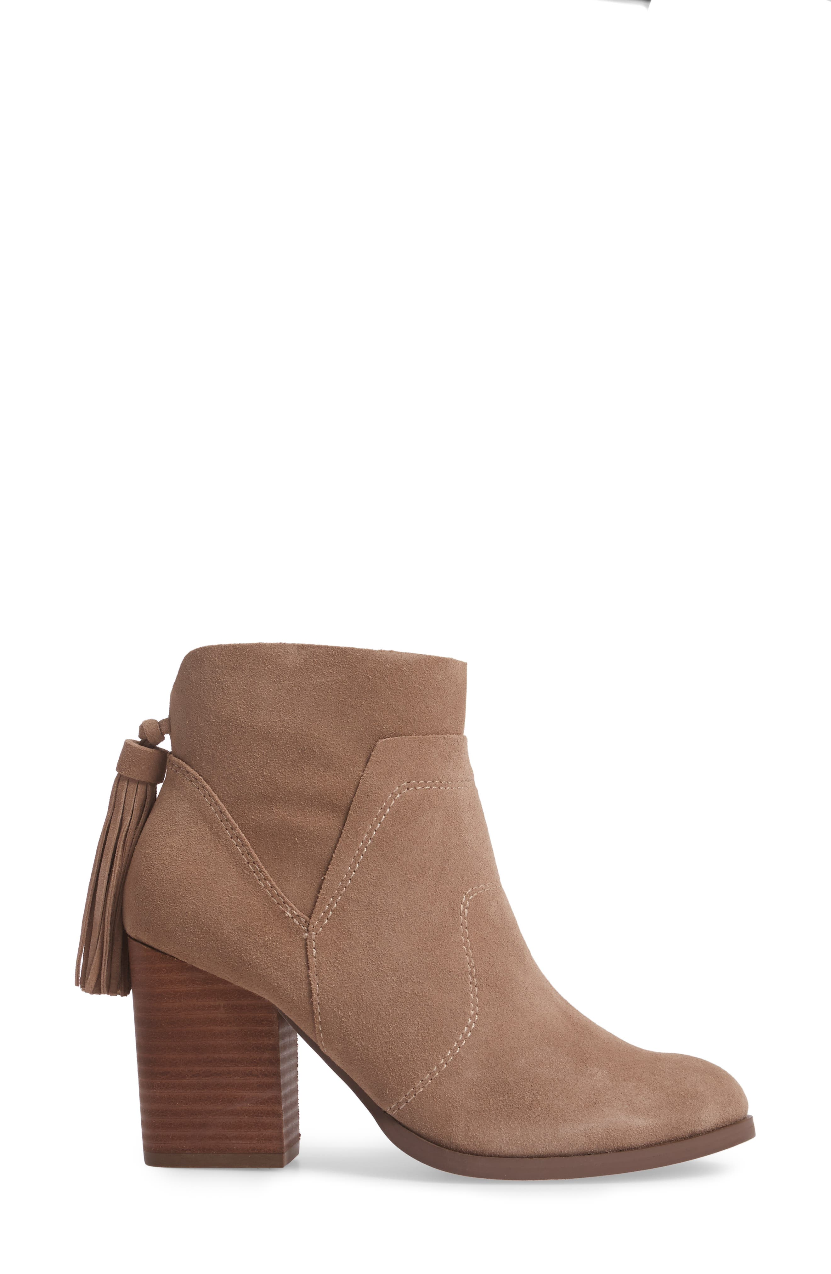 Ambrose Bootie,                             Alternate thumbnail 3, color,                             Taupe