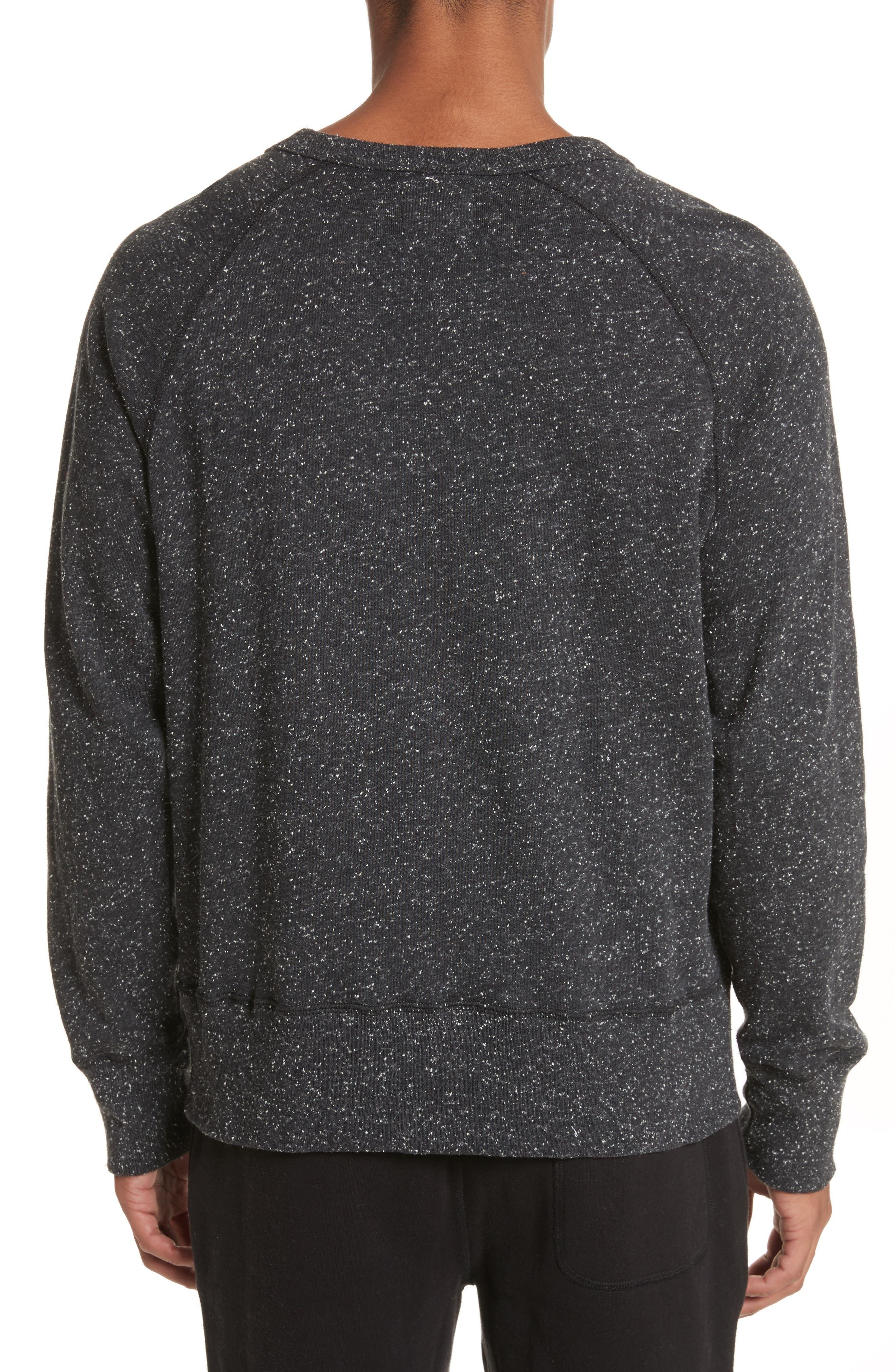 + Champion Heathered Crewneck Sweatshirt,                             Alternate thumbnail 2, color,                             Black