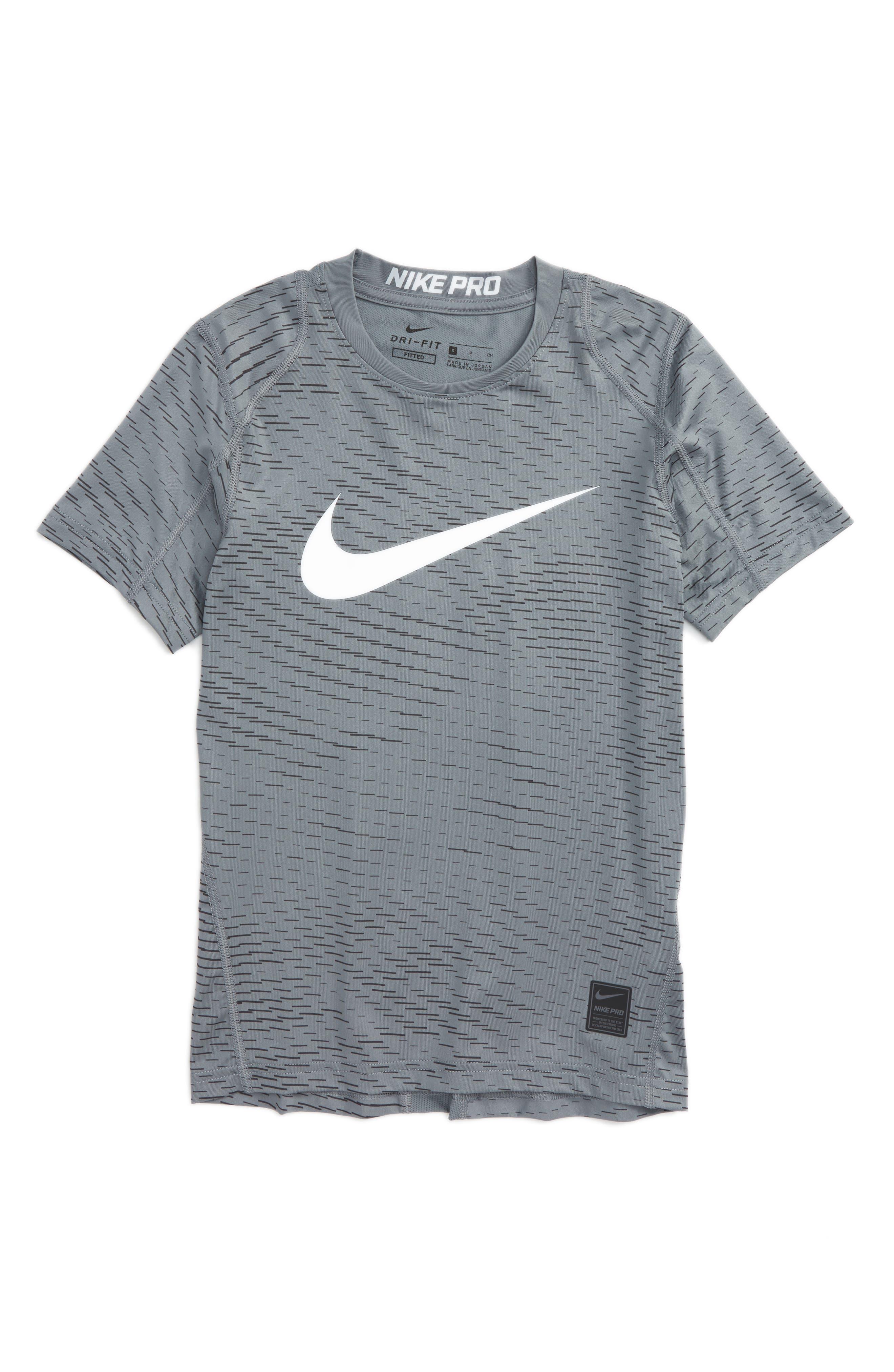 Nike Pro Dry Fitted Logo T-Shirt (Little Boys & Big Boys)