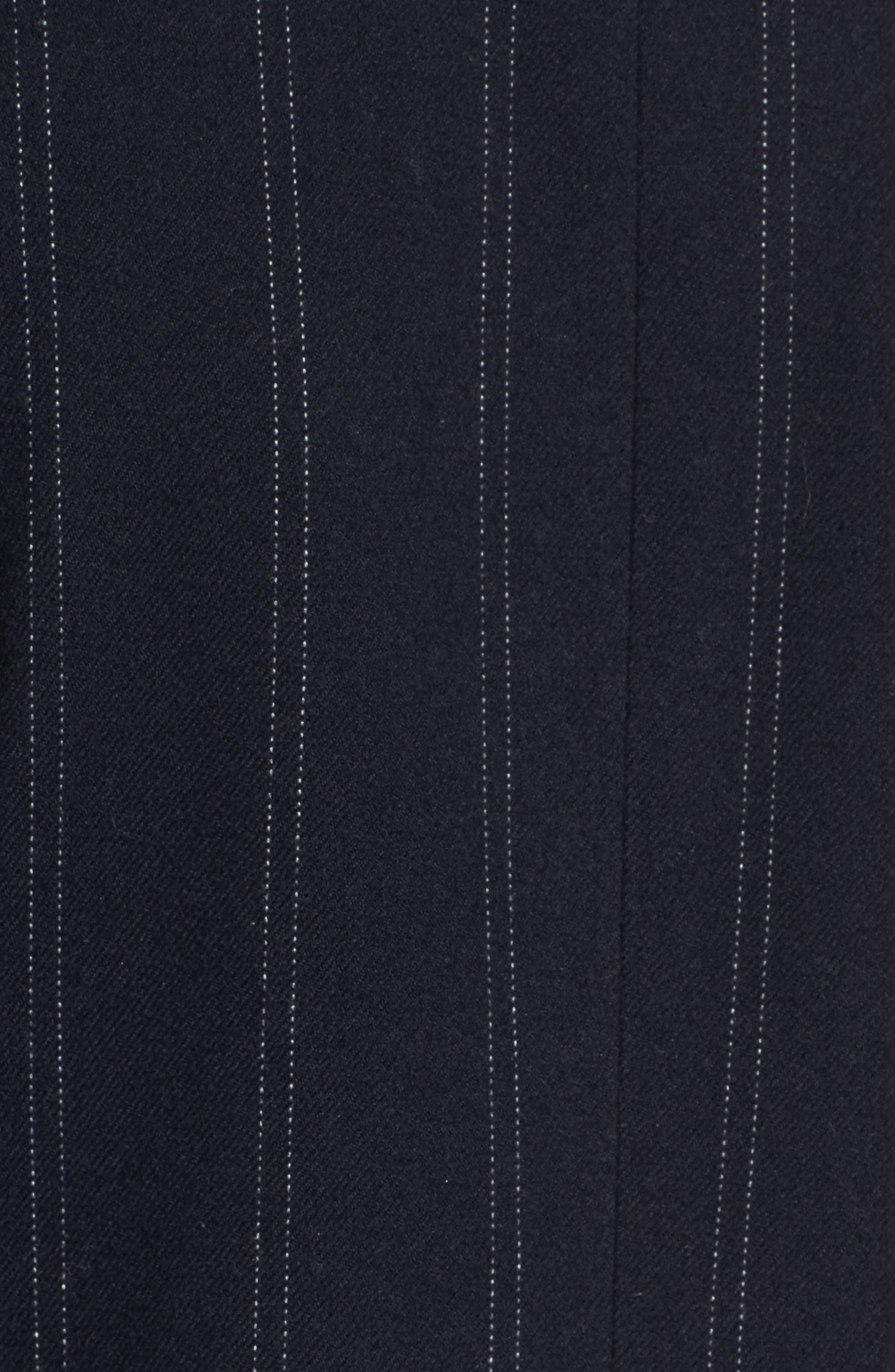 Pinstripe Jacket,                             Alternate thumbnail 5, color,                             Navy Evening Ticking Stripe