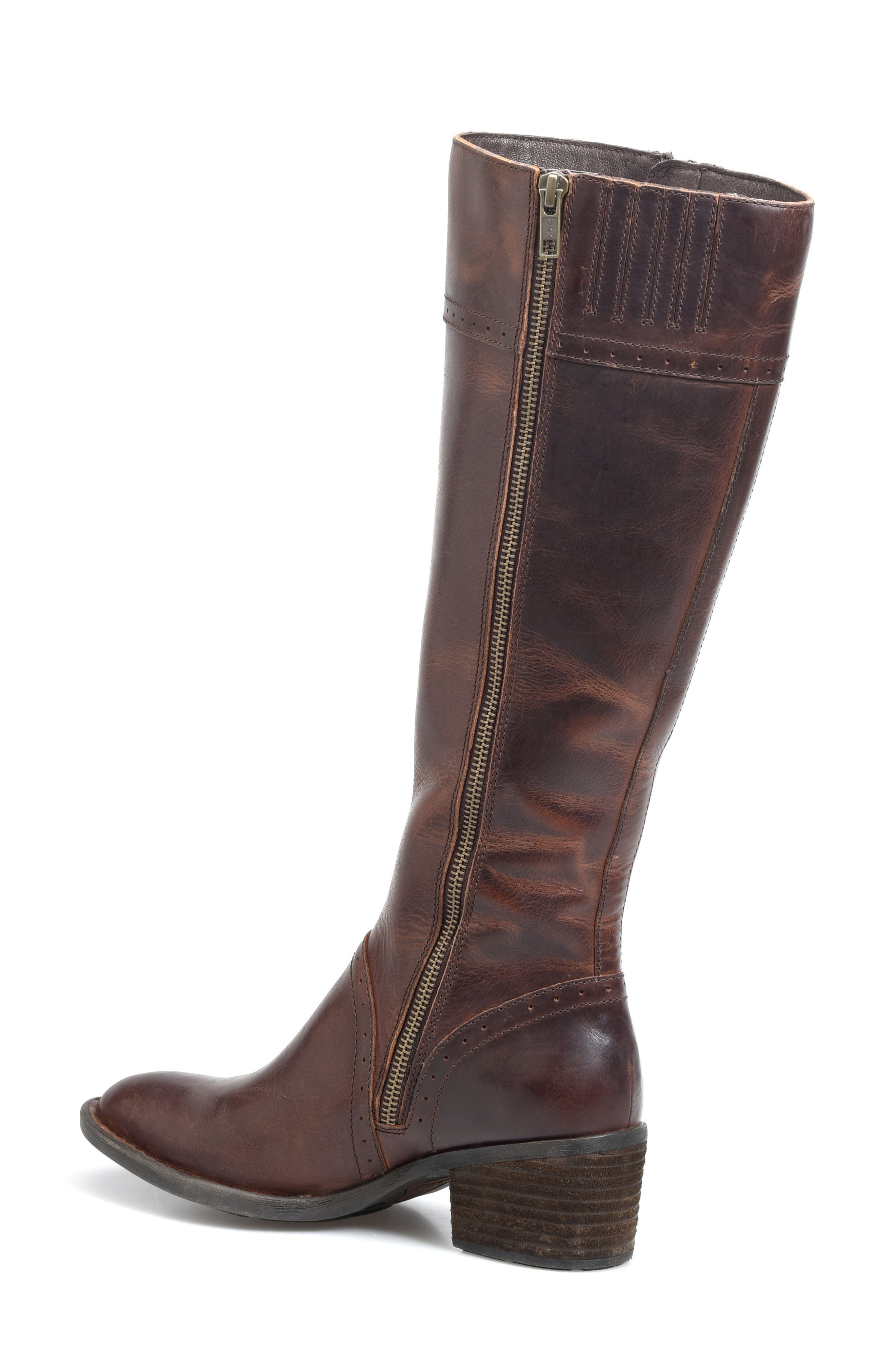 Poly Riding Boot,                             Alternate thumbnail 2, color,                             Brown Full Grain Leather