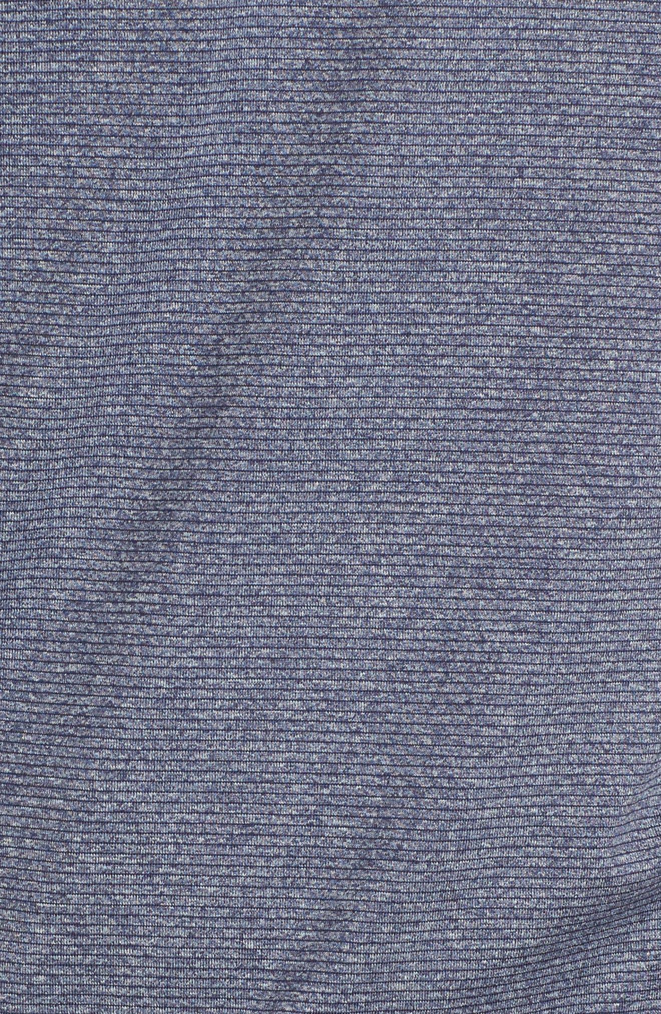 Shoreline - New England Patriots Half Zip Pullover,                             Alternate thumbnail 5, color,                             Liberty Navy Heather