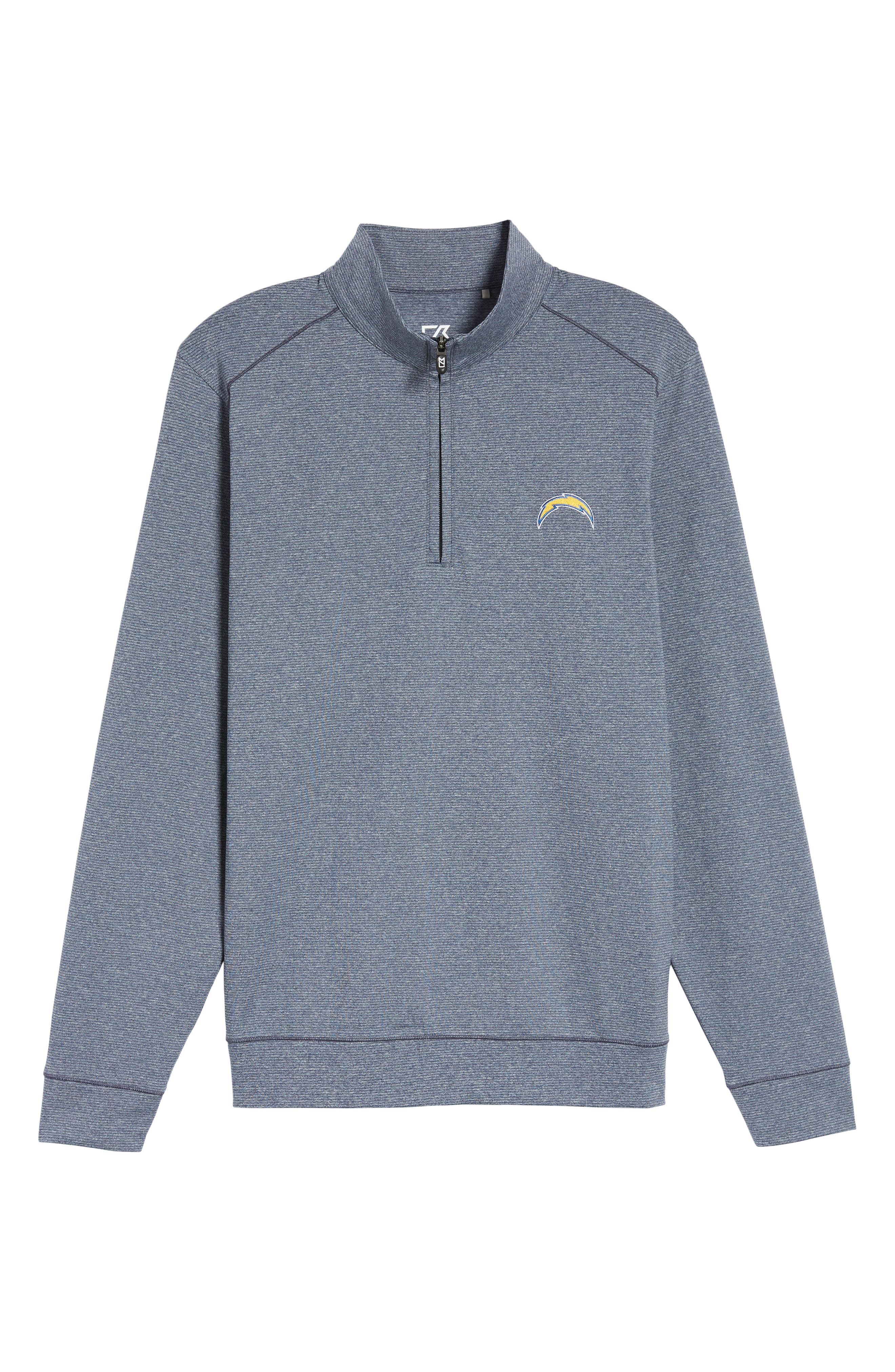 Shoreline - Los Angeles Chargers Half Zip Pullover,                             Alternate thumbnail 6, color,                             Liberty Navy Heather