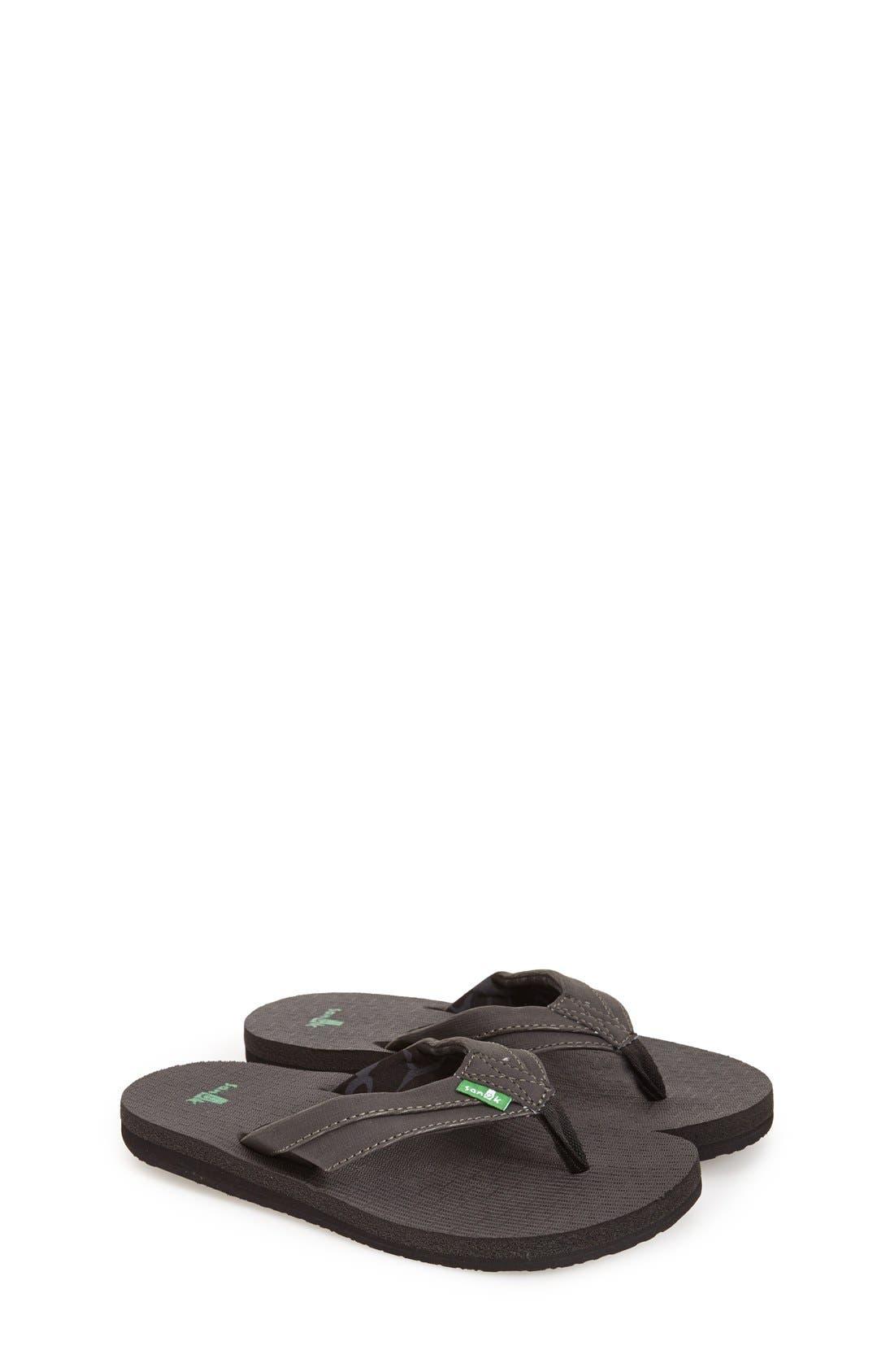 Sanuk 'Rootbeer Cozy' Lightweight Flip Flop Sandal (Toddler, Little Kid & Big Kid)