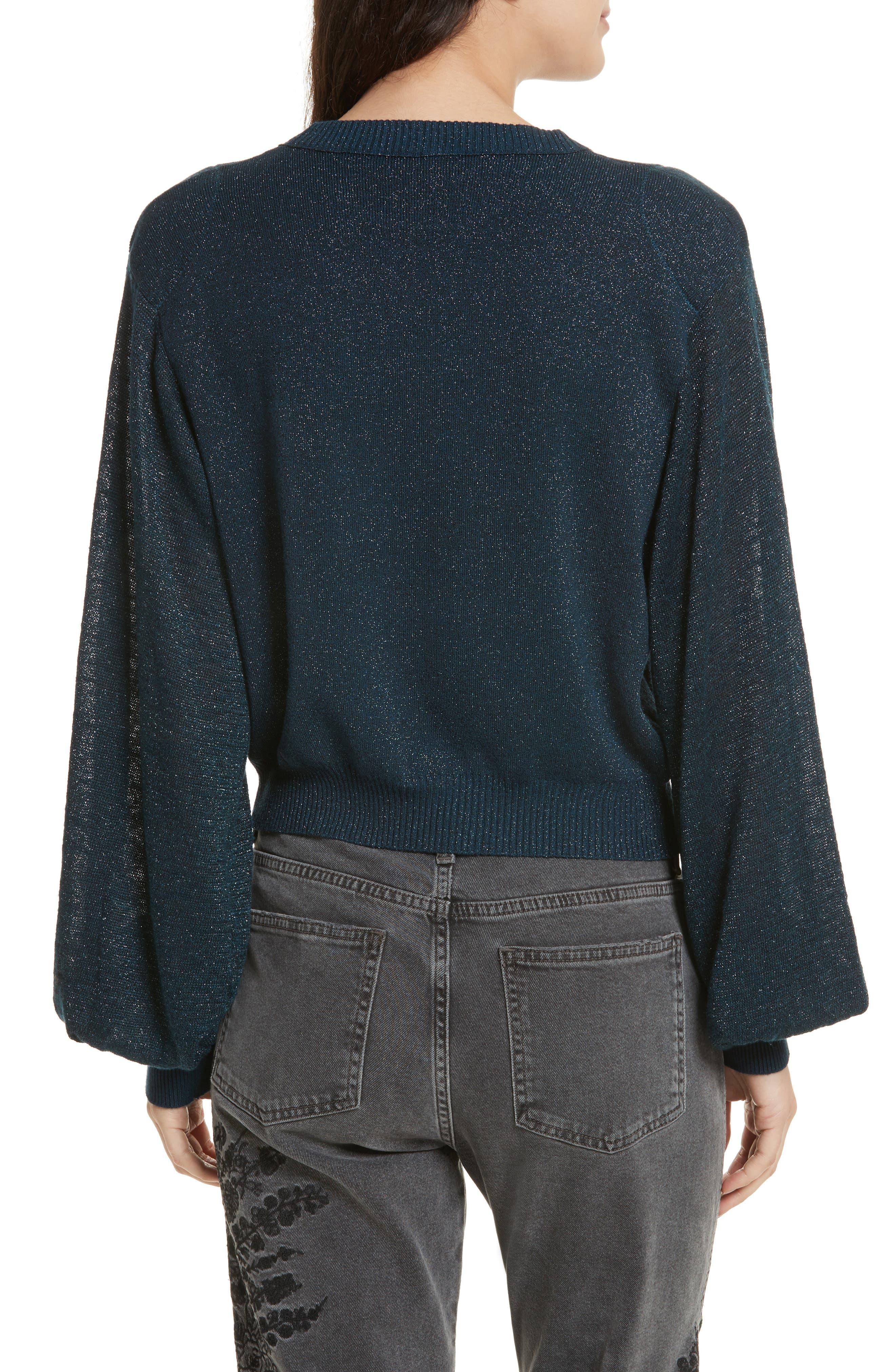 Let it Shine Sweater,                             Alternate thumbnail 2, color,                             Navy