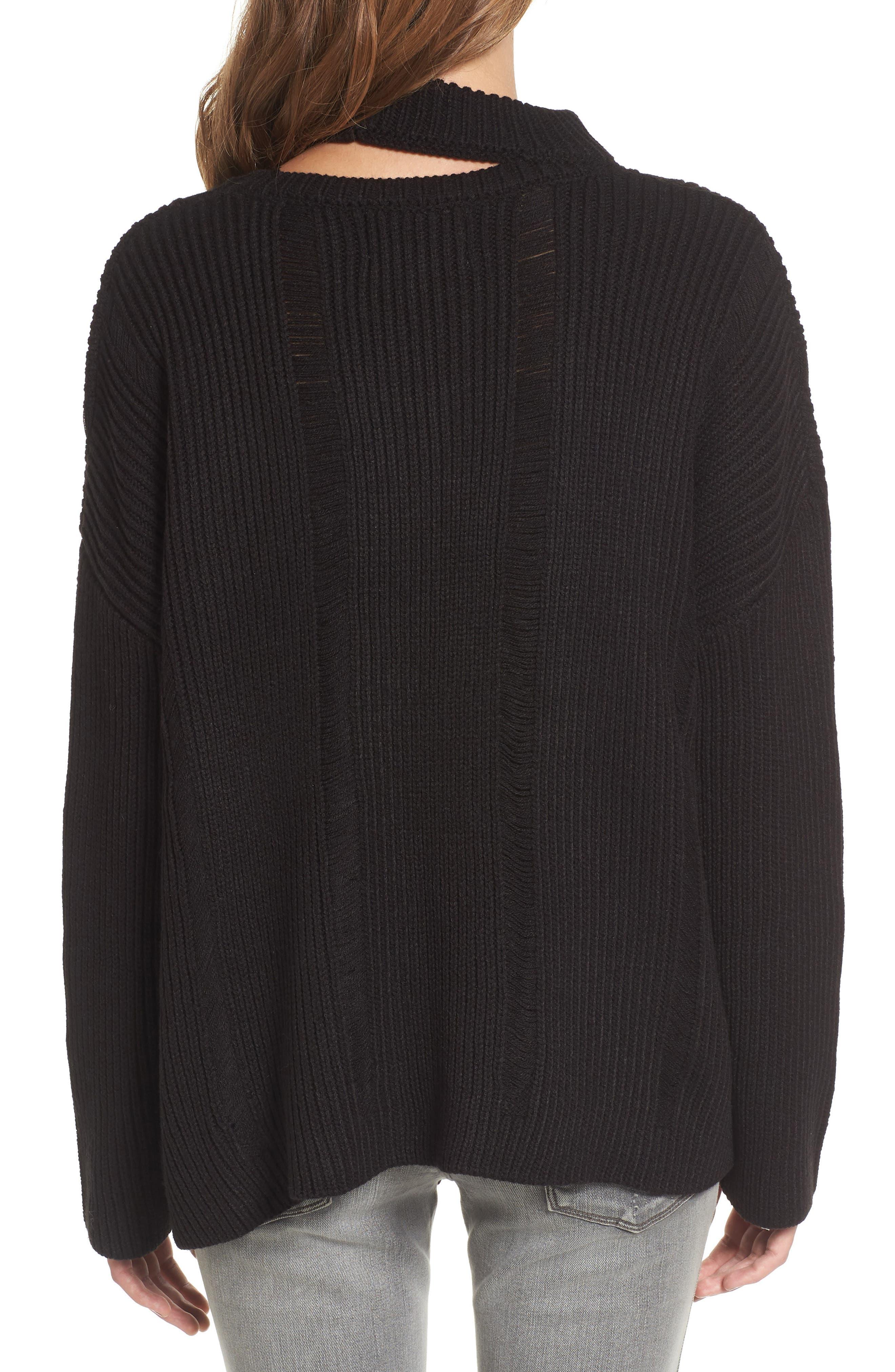 Destroyed Sweater,                             Alternate thumbnail 3, color,                             Black