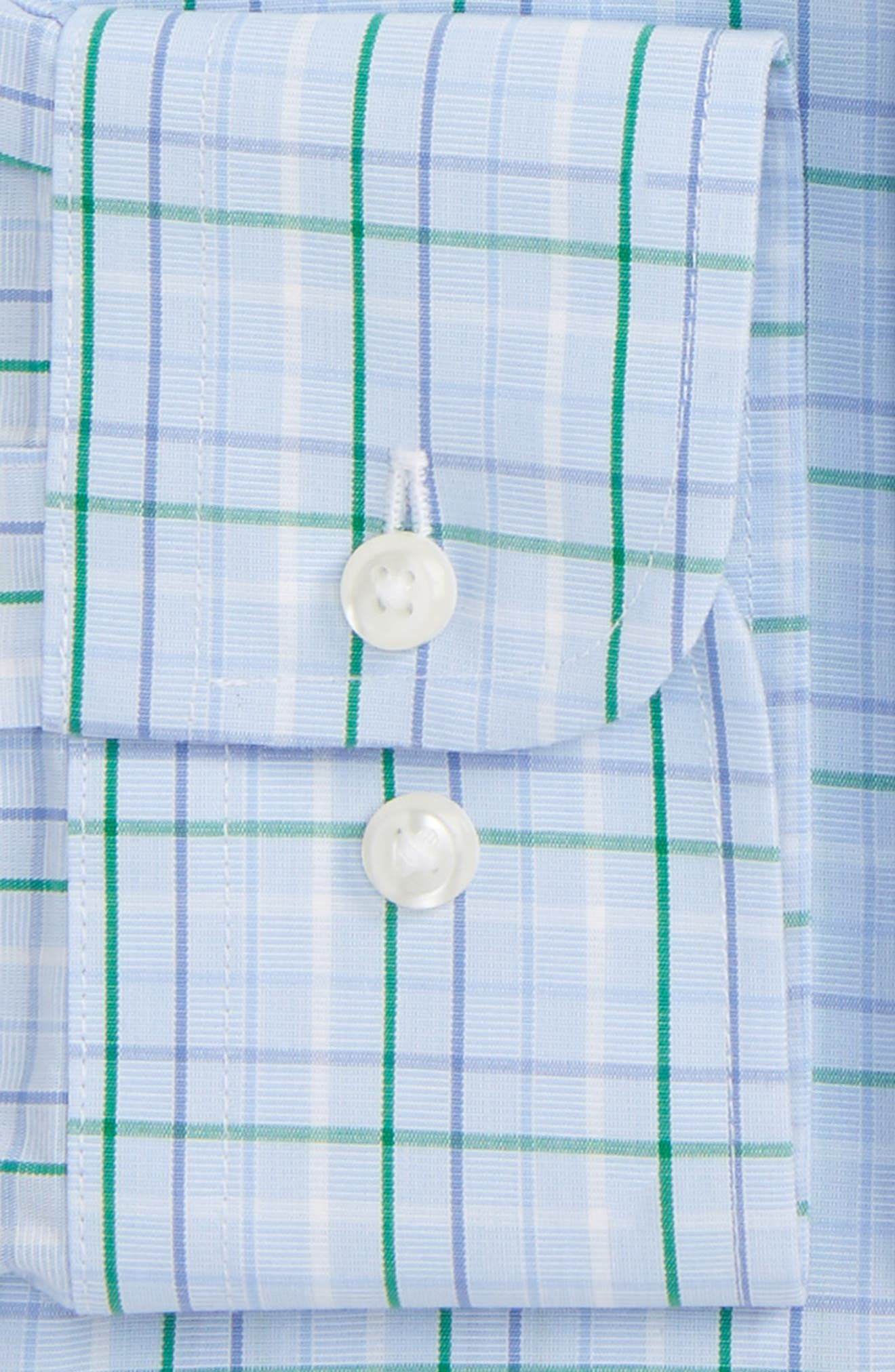 Smartcare<sup>™</sup> Traditional Fit Plaid Dress Shirt,                             Alternate thumbnail 2, color,                             Green Jolly