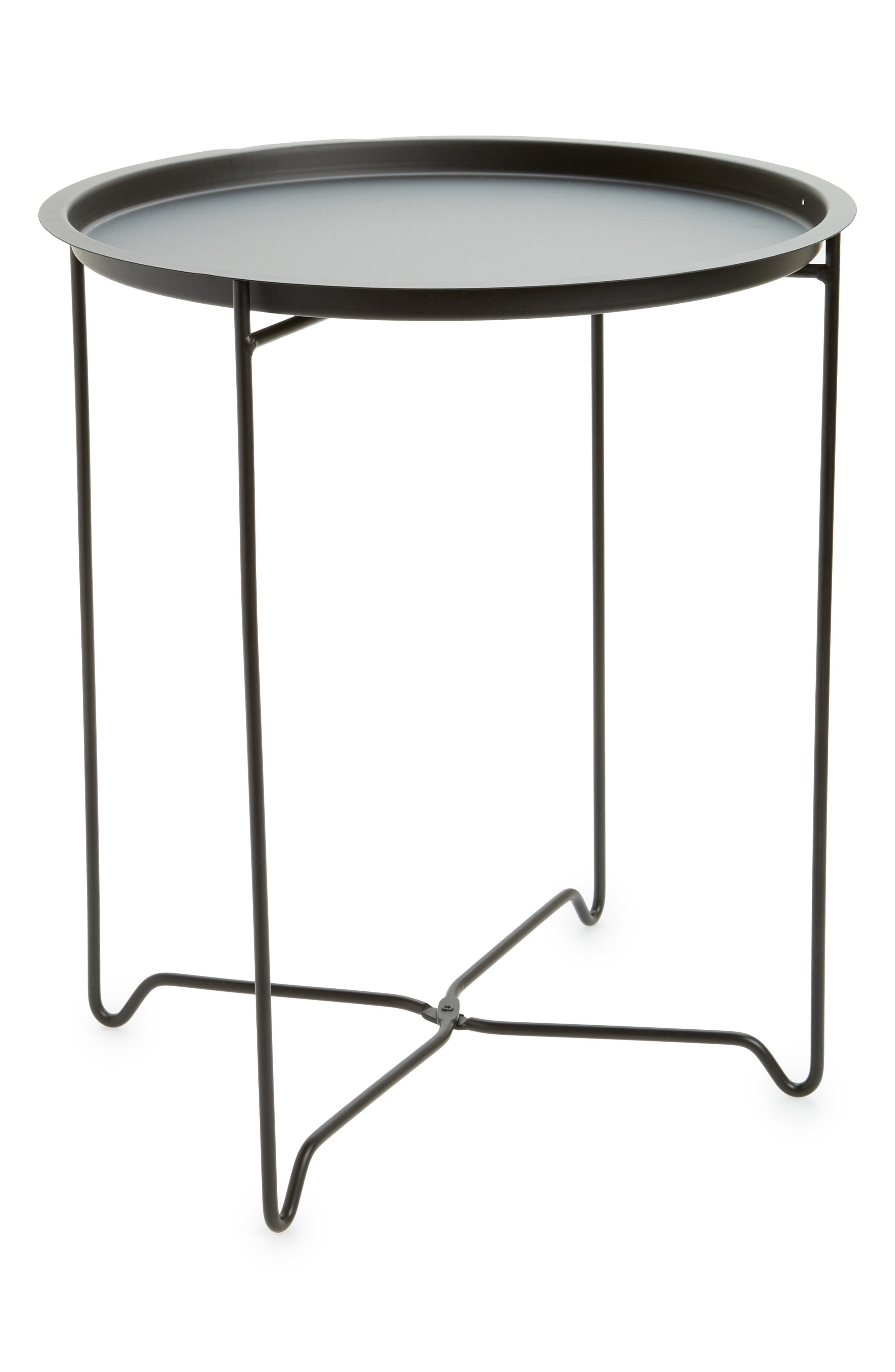 Home Foldable Accent Table,                         Main,                         color, Black