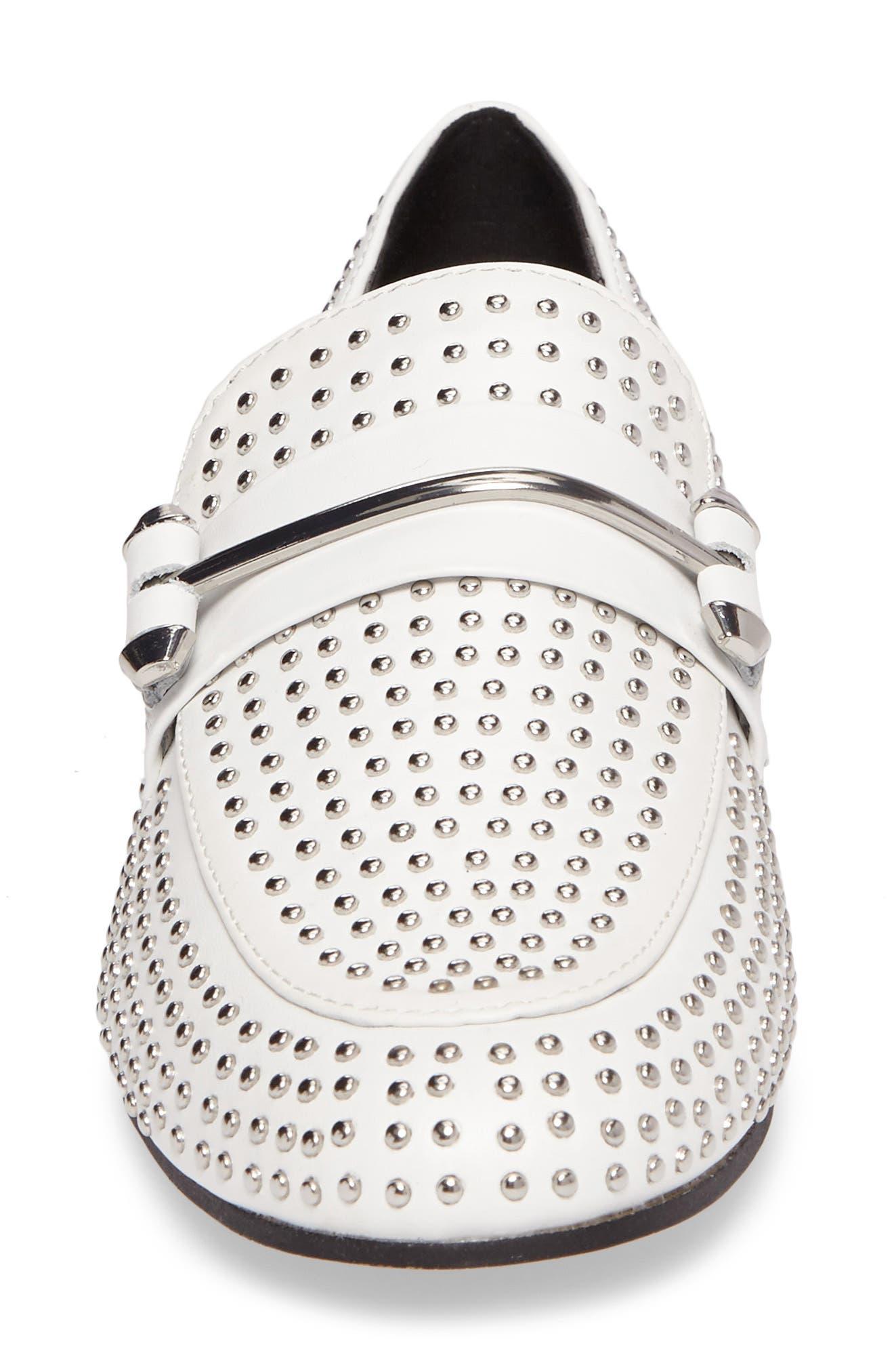 Alternate Image 4  - Steve Madden Kast Studded Loafer (Women)