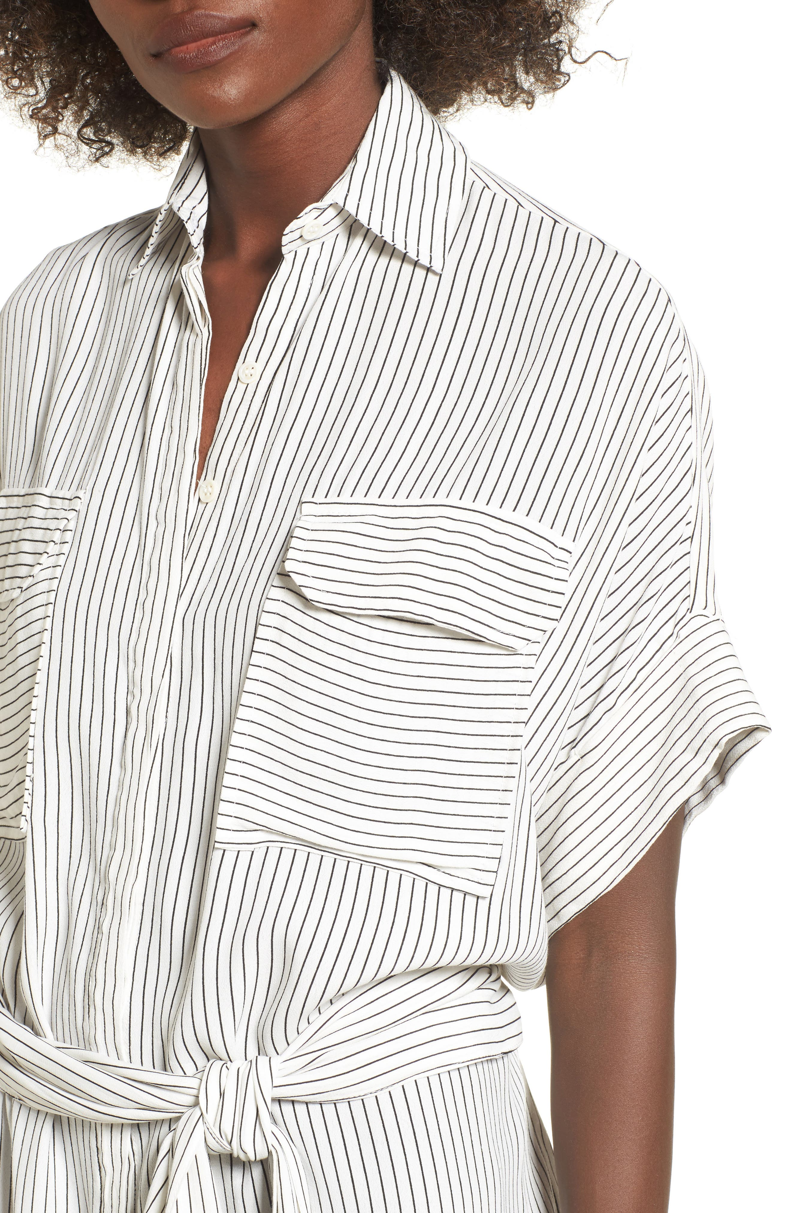 Alternate Image 5  - FAITHFULL THE BRAND Casa Stripe Shirtdress