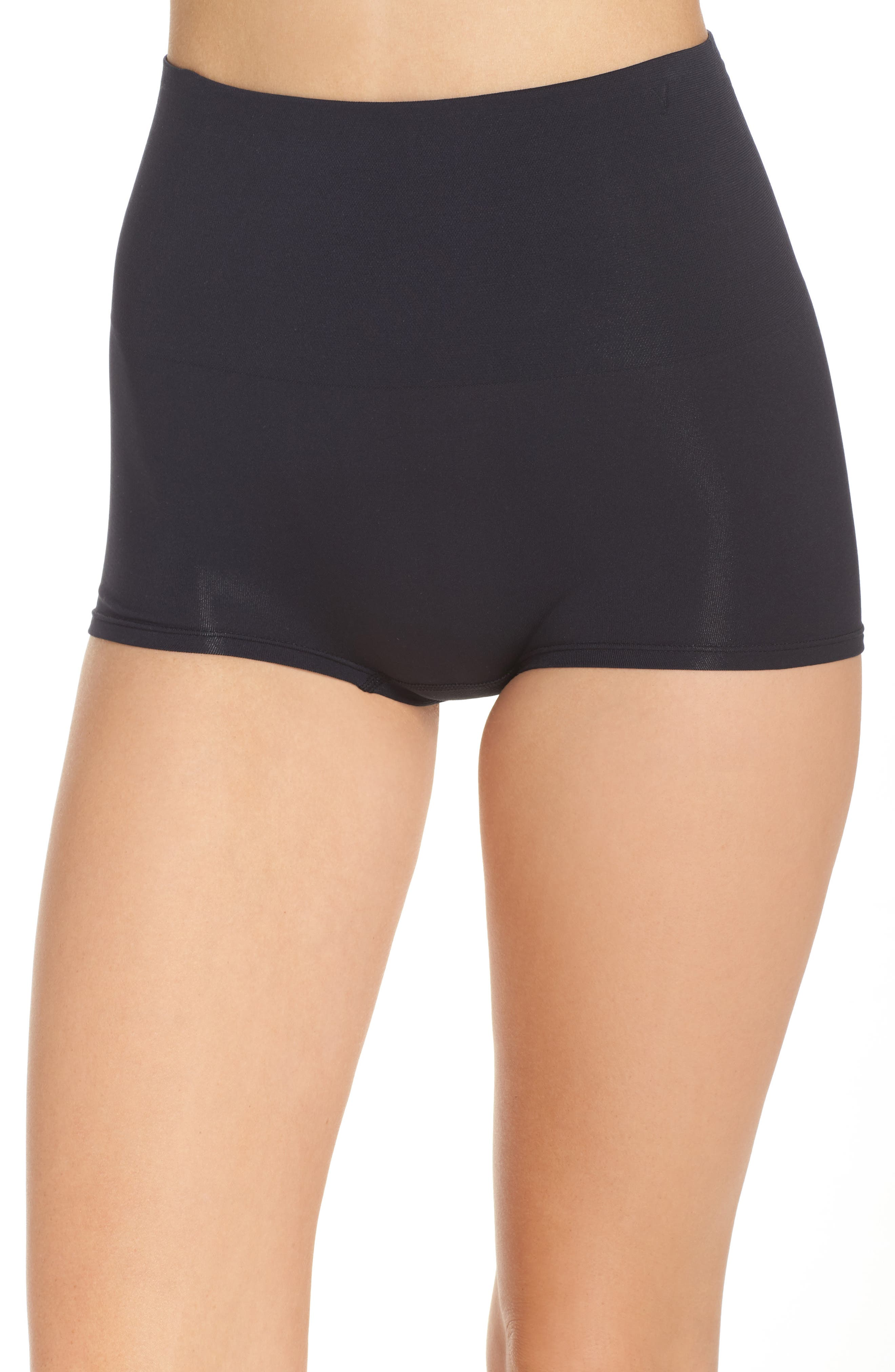 Ultralite Seamless Shaping Girlshorts,                             Main thumbnail 1, color,                             Black