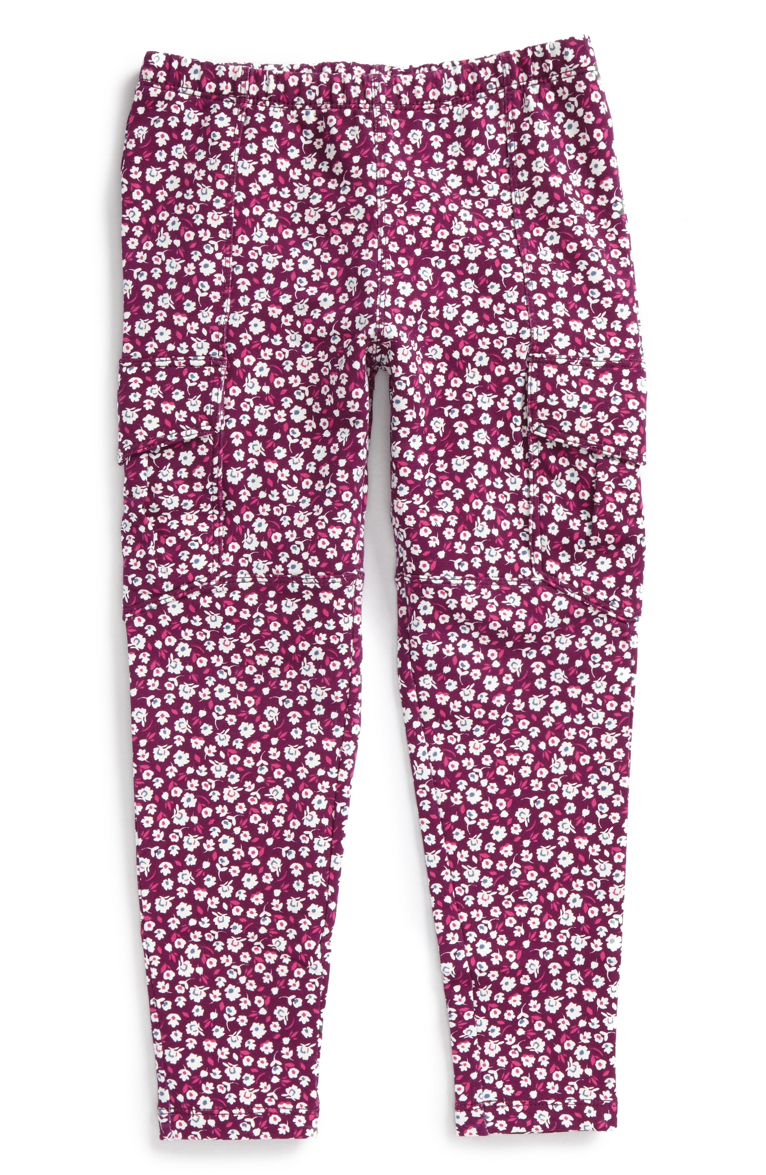 Main Image - Tea Collection Ditsy French Terry Cargo Pants (Toddler Girls, Little Girls & Big Girls)