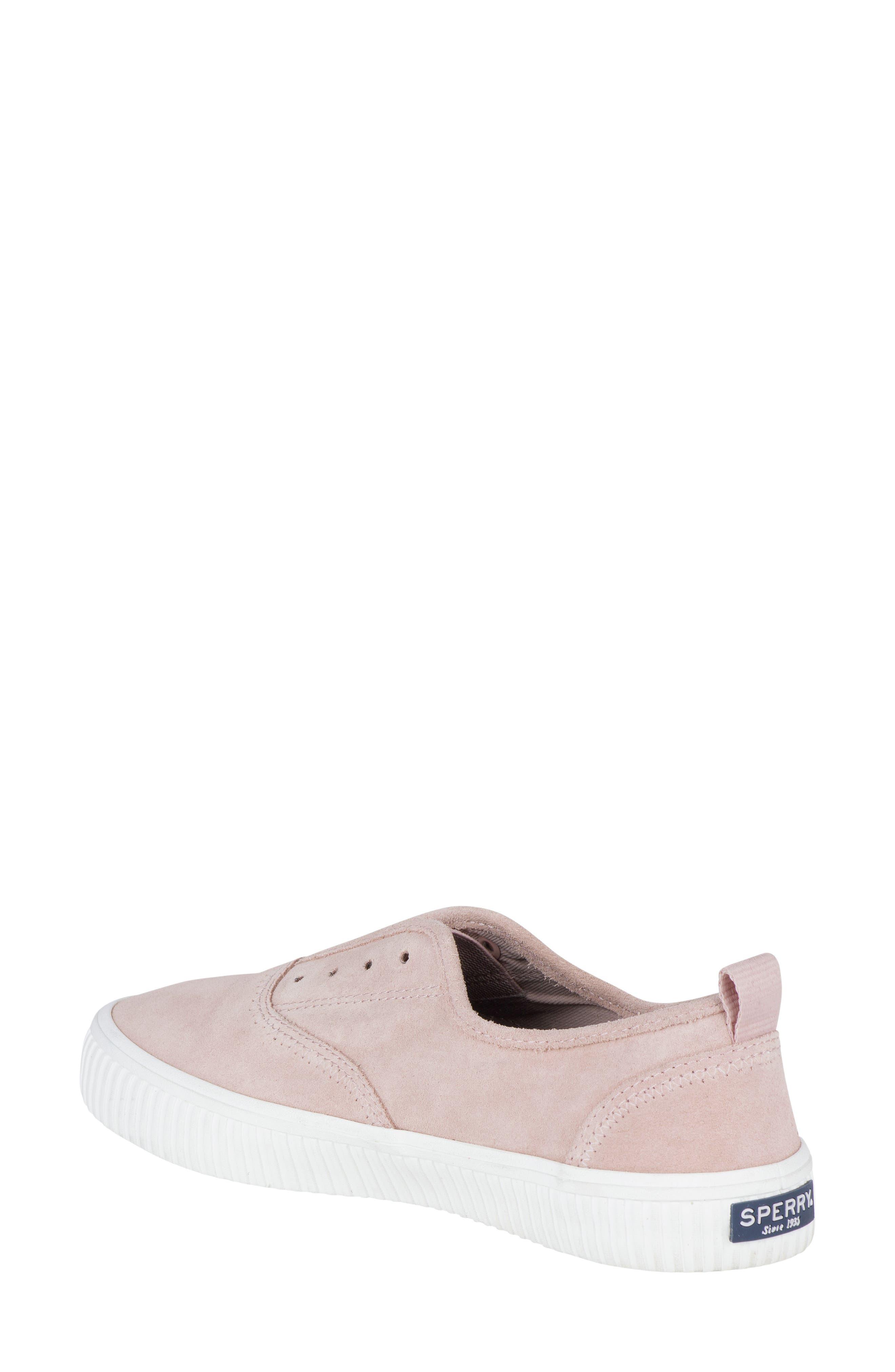 Crest Creeper Slip-On Sneaker,                             Alternate thumbnail 2, color,                             Rose Dust Suede