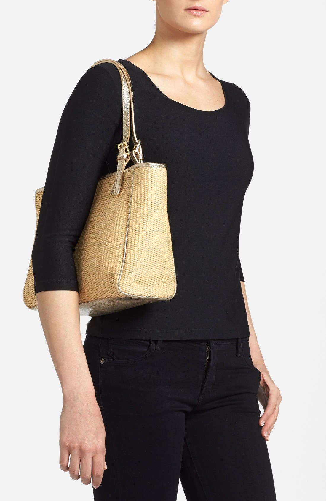Alternate Image 2  - Tory Burch 'Small York' Straw Buckle Tote