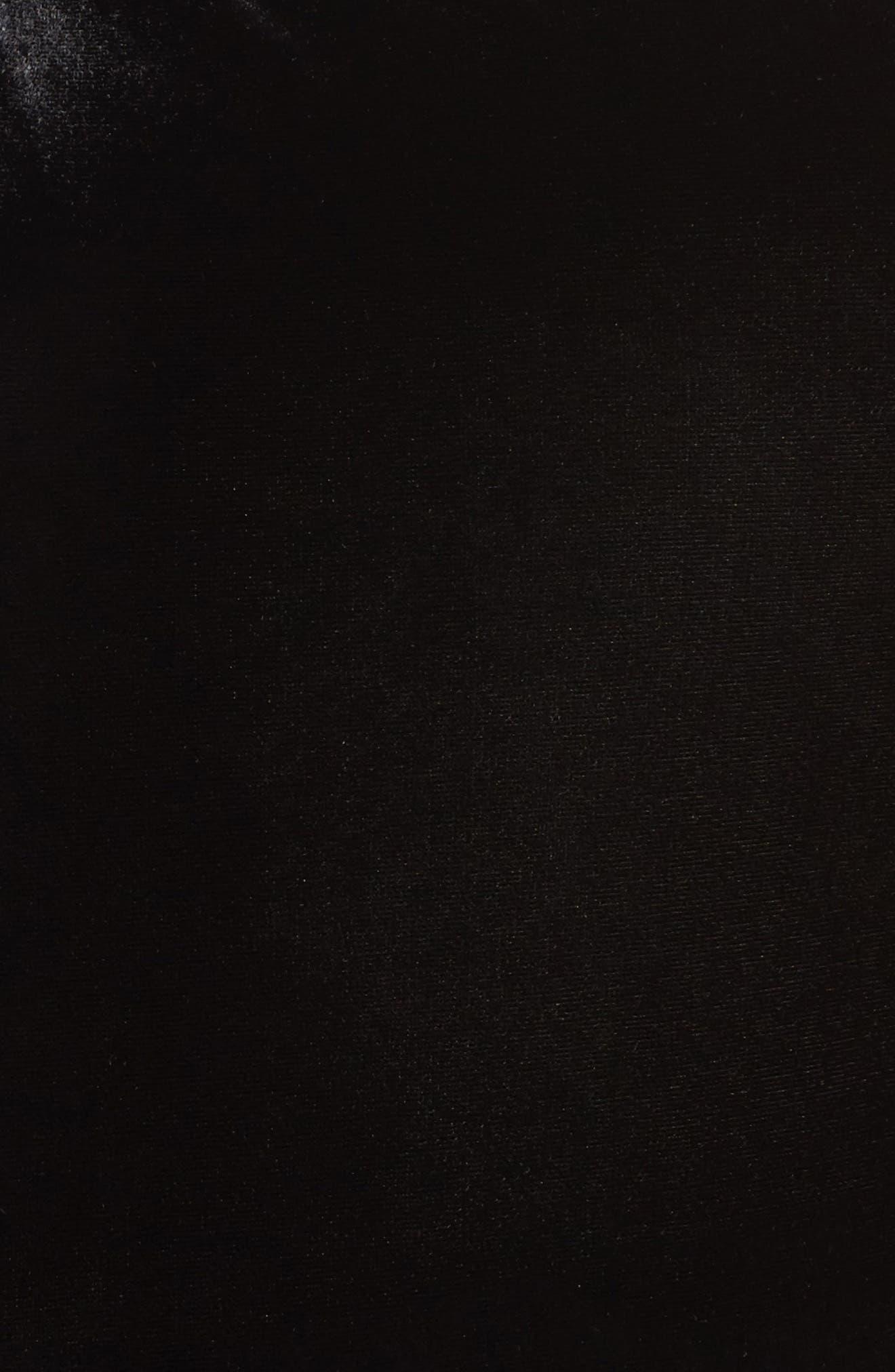Halter Velvet Jumpsuit,                             Alternate thumbnail 5, color,                             Black