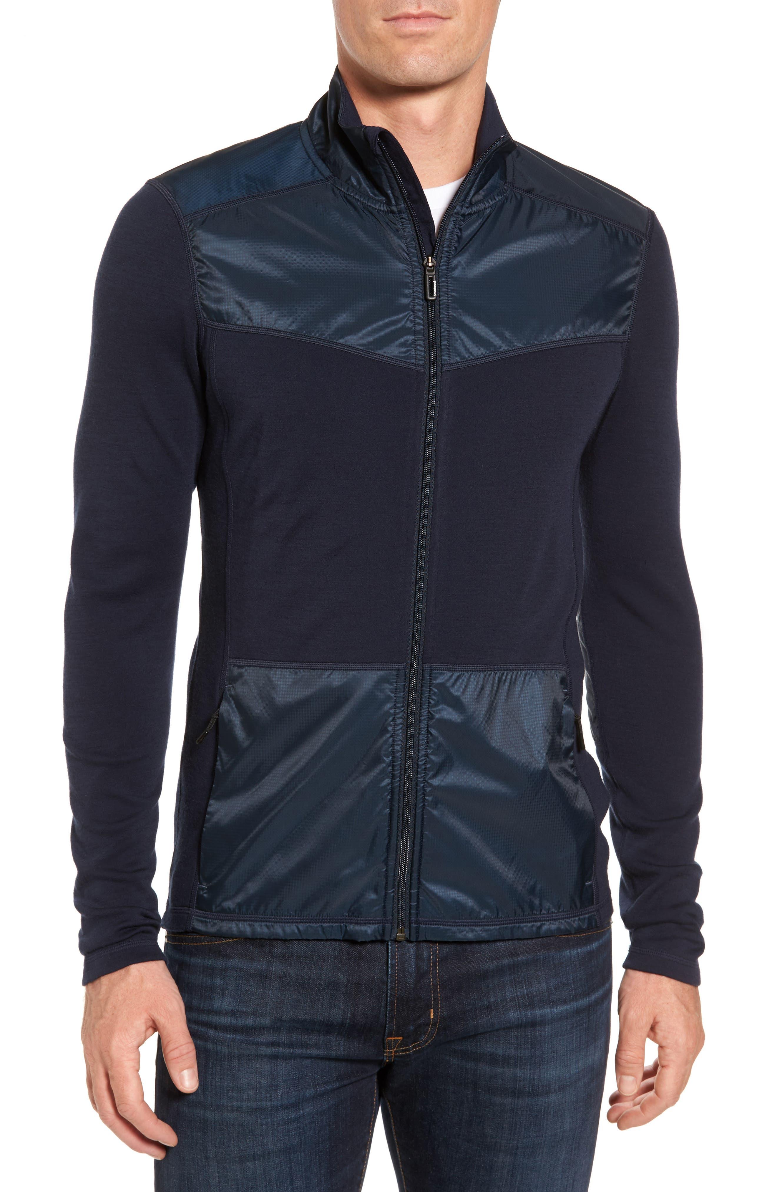250 Sport Merino Wool Zip Jacket,                         Main,                         color, Deep Navy