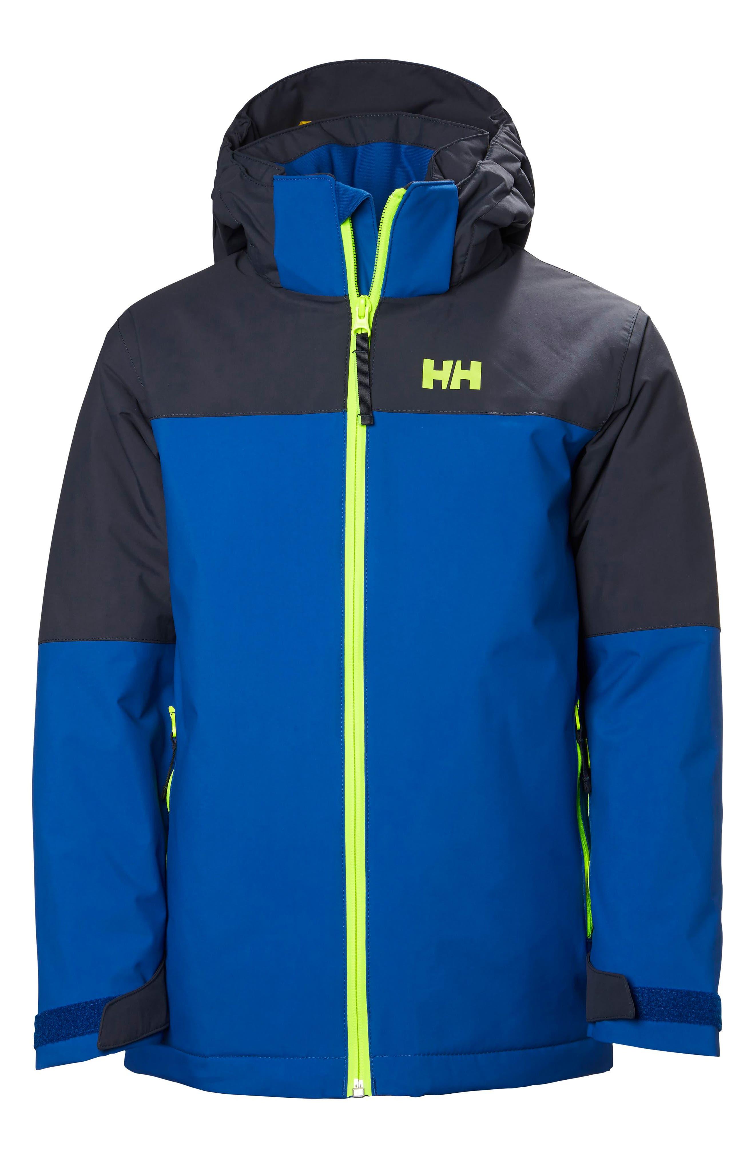 Helly Hansen 'Progress' Waterproof Hooded Jacket (Big Boys)
