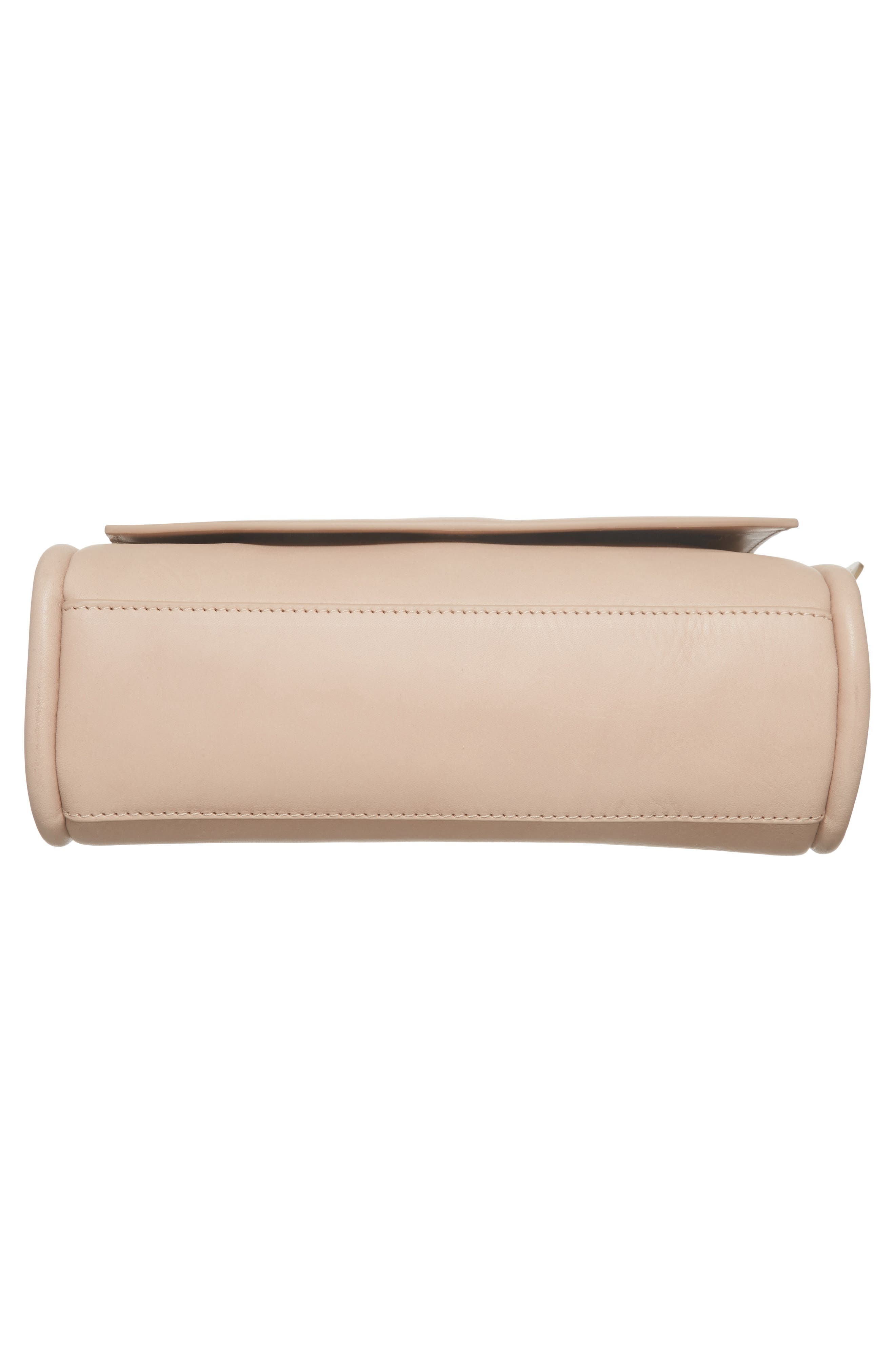 Sylvi Calfskin Leather Crossbody Bag,                             Alternate thumbnail 5, color,                             Beige