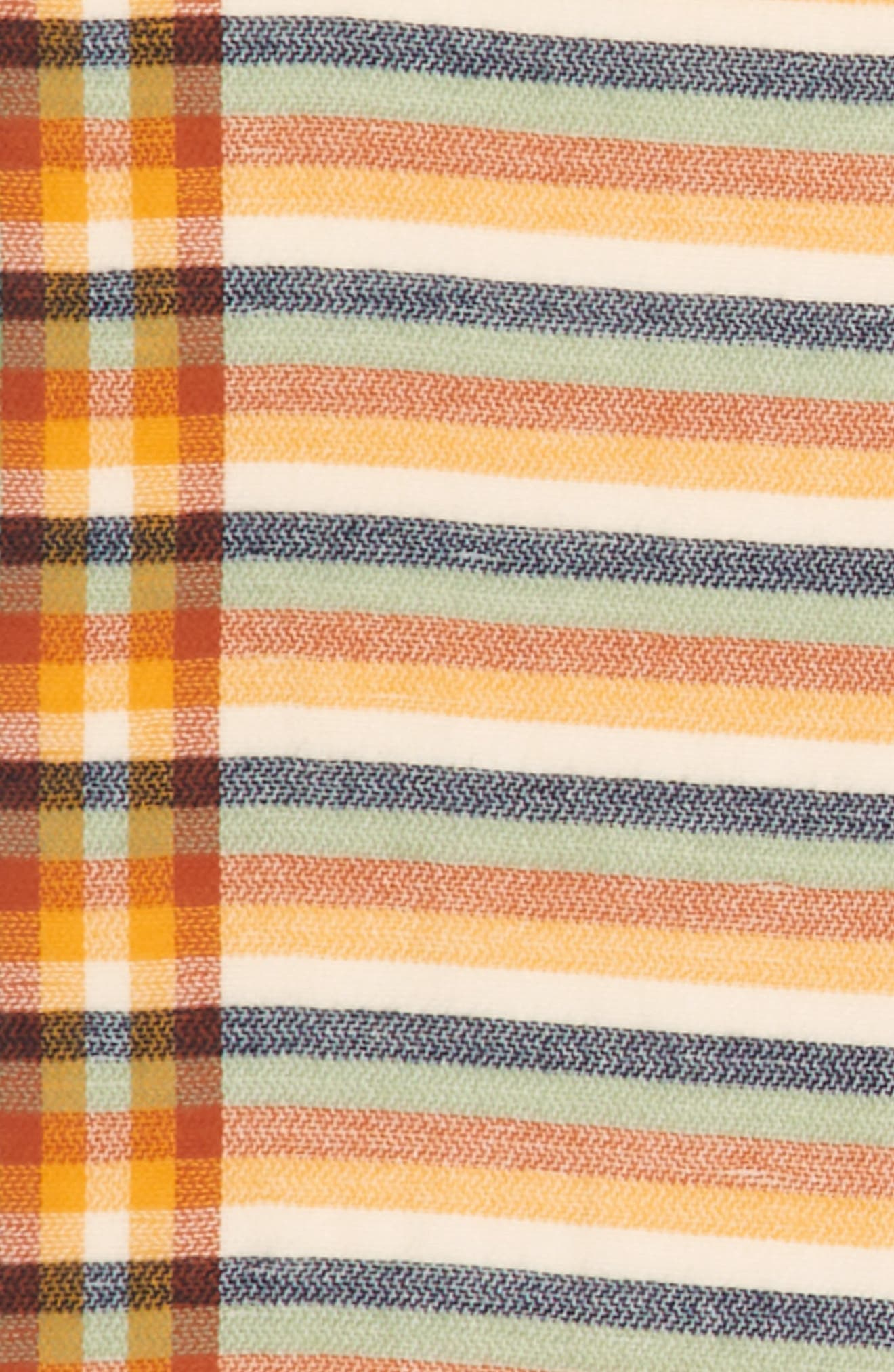 Woven Stripe Scarf,                             Alternate thumbnail 2, color,                             Rust Multi