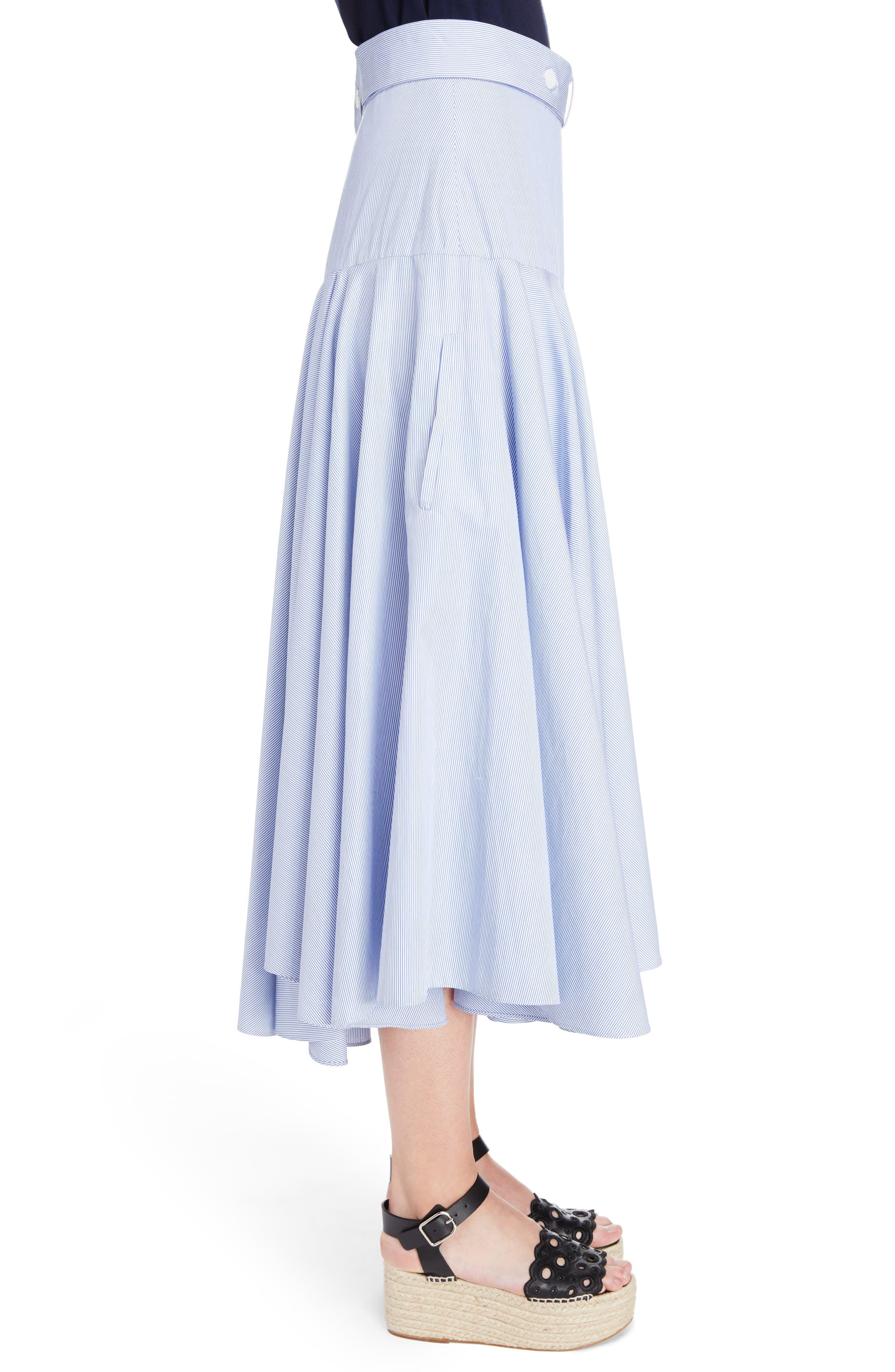 Alternate Image 3  - Loewe Stripe Cotton Skater Skirt