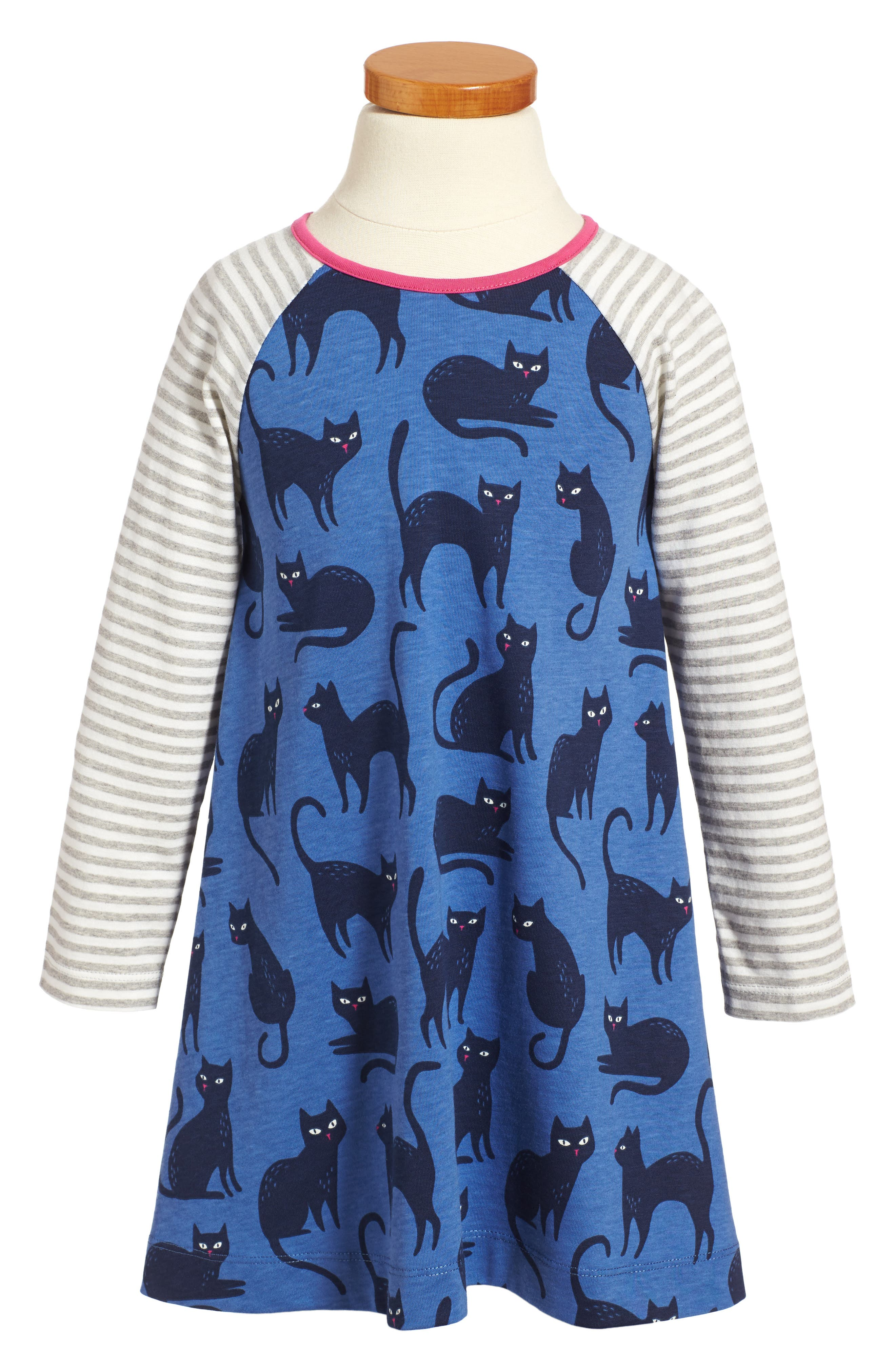 Main Image - Mini Boden Cat Glow in the Dark Dress (Toddler Girls, Little Girls & Big Girls)