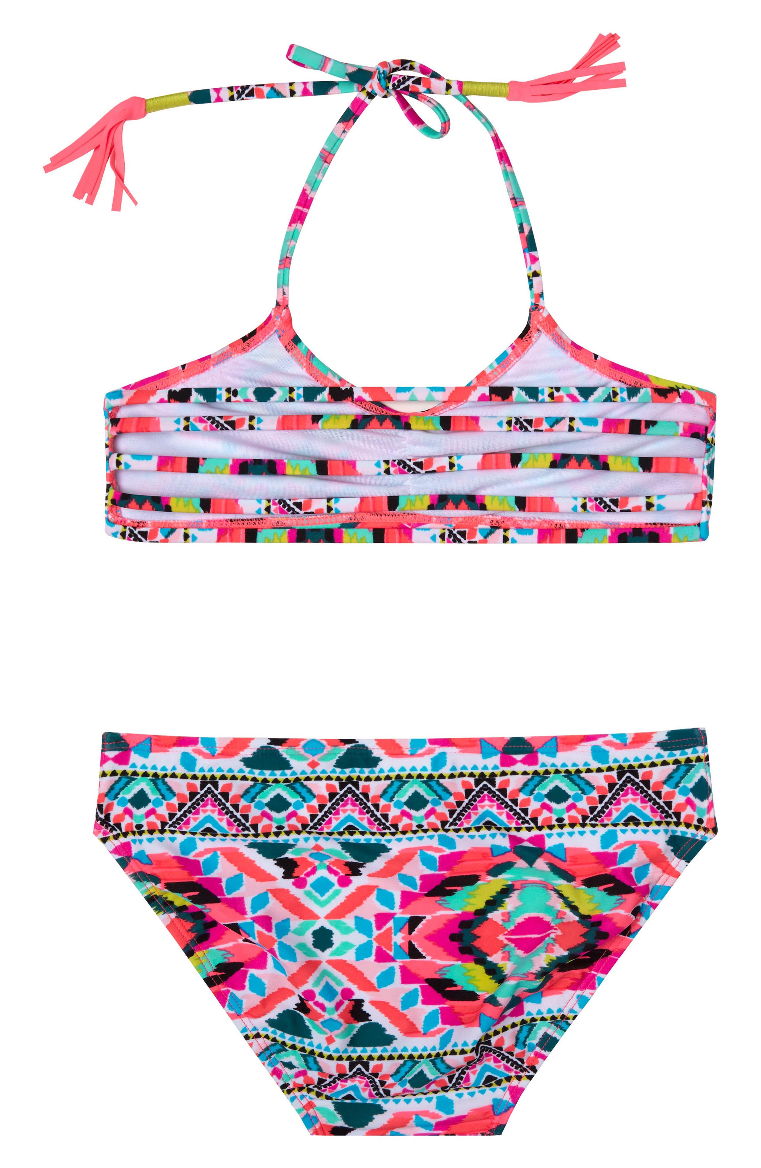 Surfside Solstice Two-Piece Swimsuit,                             Alternate thumbnail 2, color,                             Pink
