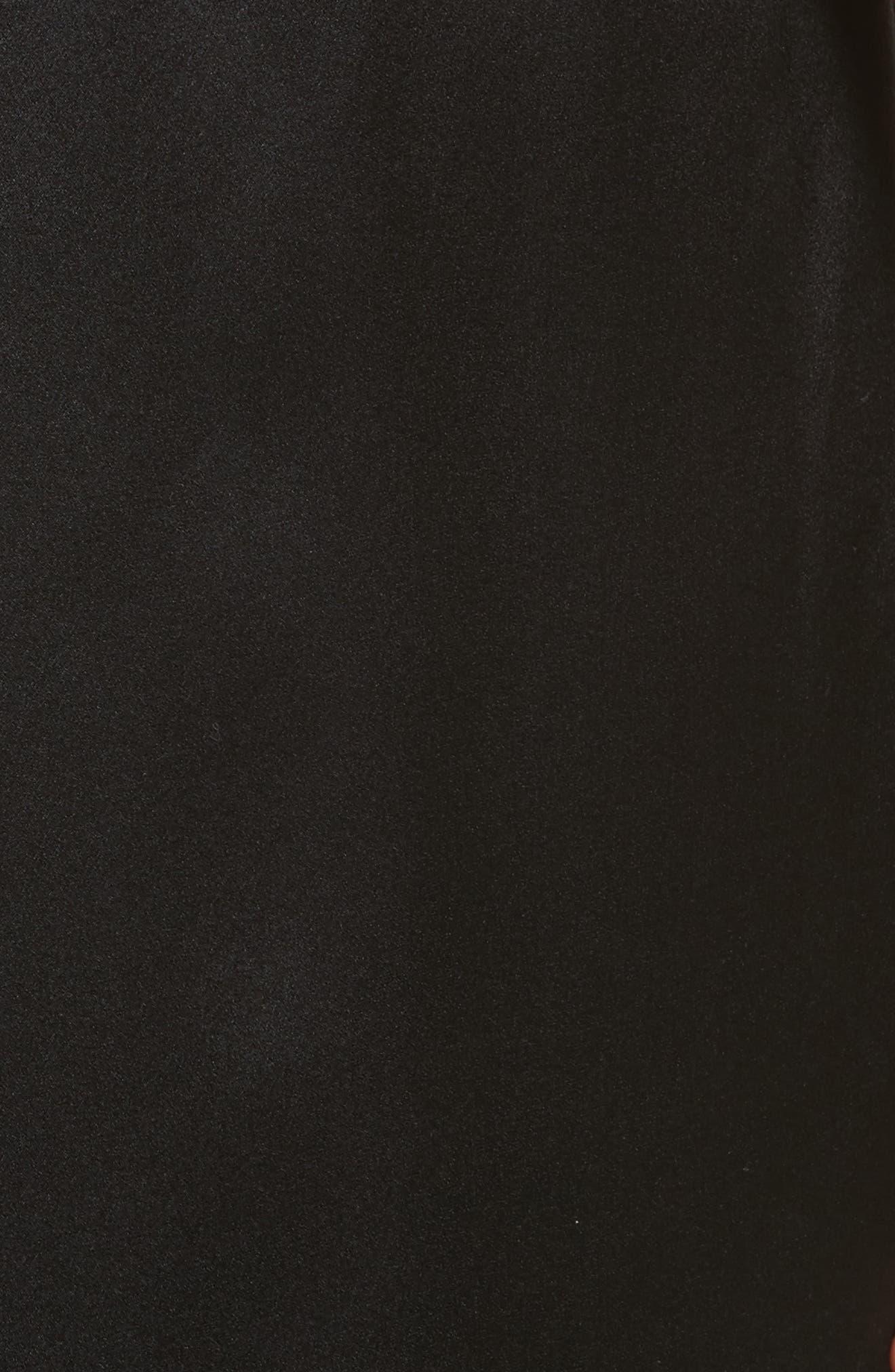 Tie Waist Crop Silk Pants,                             Alternate thumbnail 6, color,                             Noir