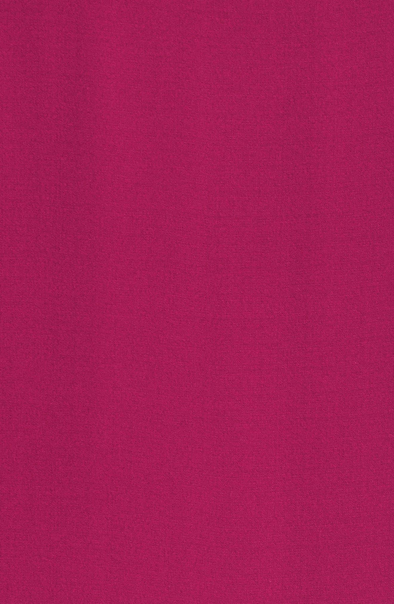 Asymmetrical Silk Shift Dress,                             Alternate thumbnail 5, color,                             Hibiscus