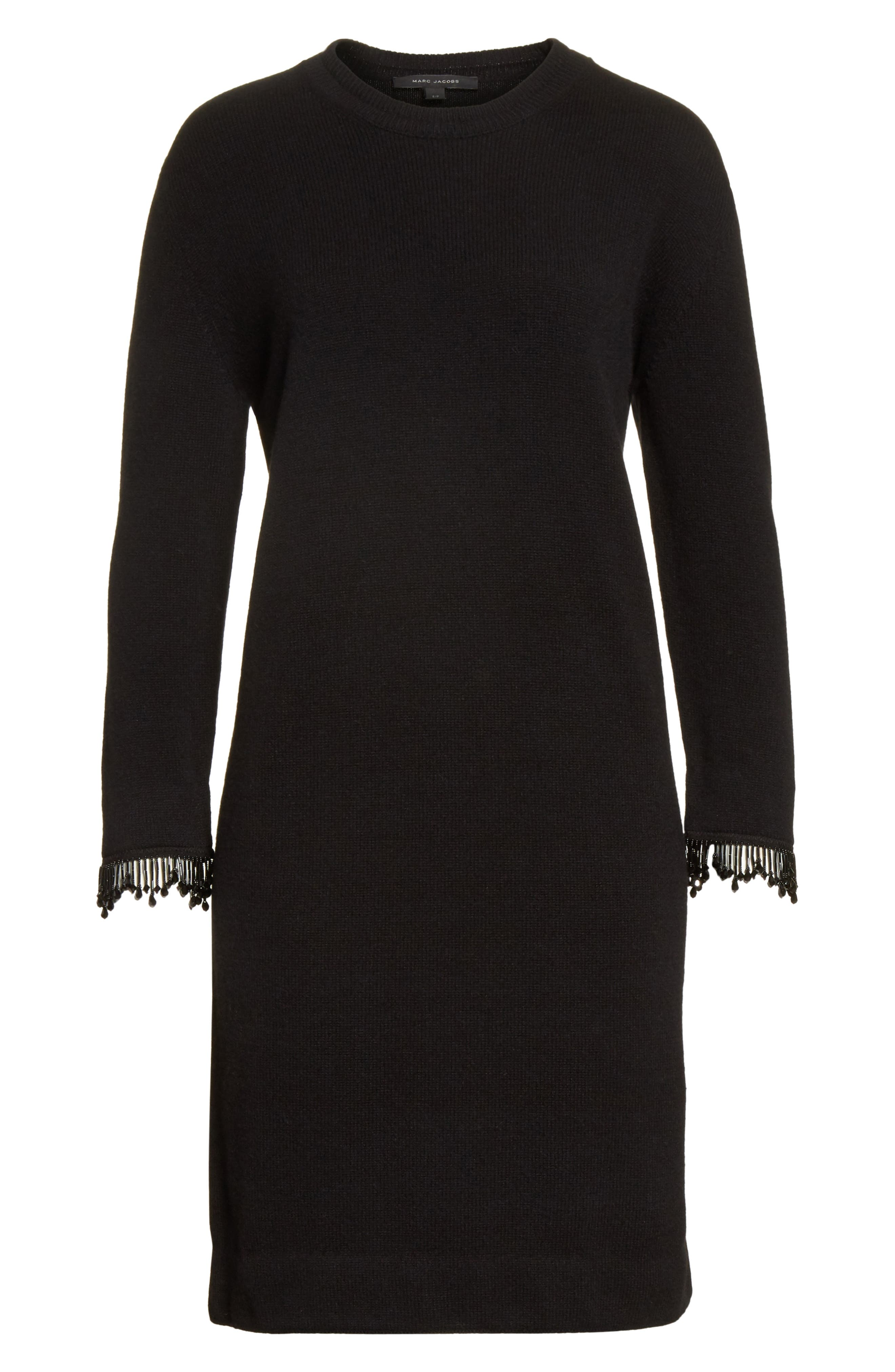 Alternate Image 6  - MARC JACOBS Beaded Fringe Wool & Cashmere Dress