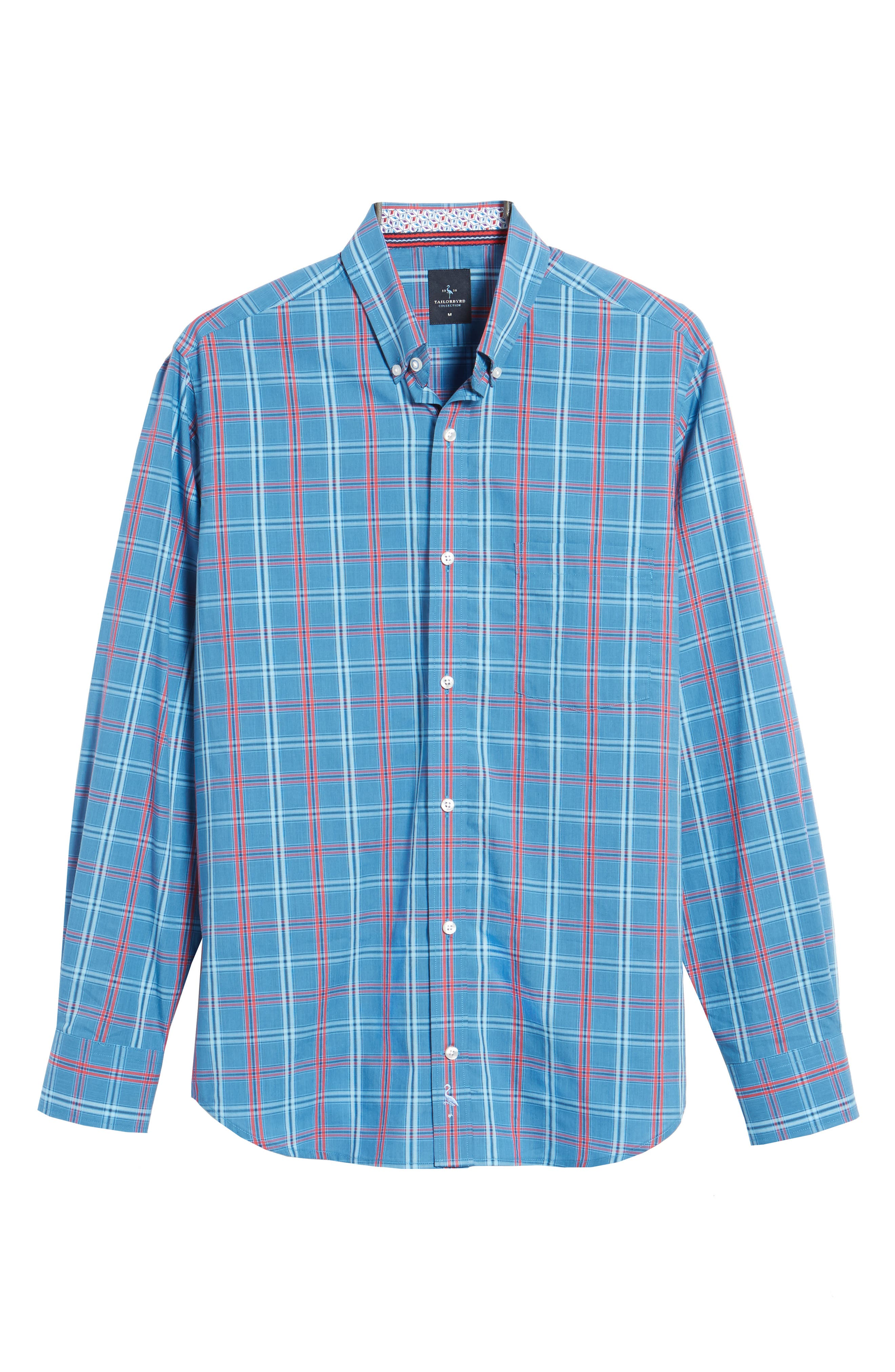 Ashland Windowpane Check Sport Shirt,                             Alternate thumbnail 6, color,                             Blue