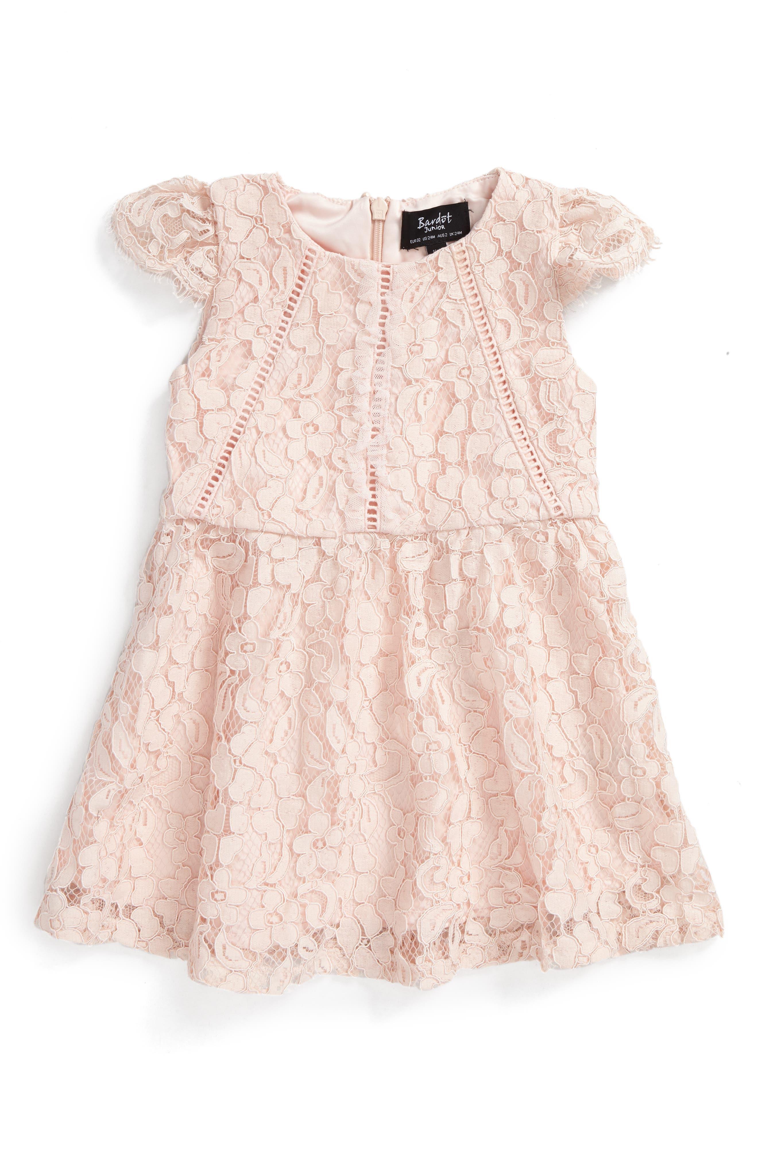 Bardot Junior Cap Sleeve Lace Dress (Baby Girls & Toddler Girls)