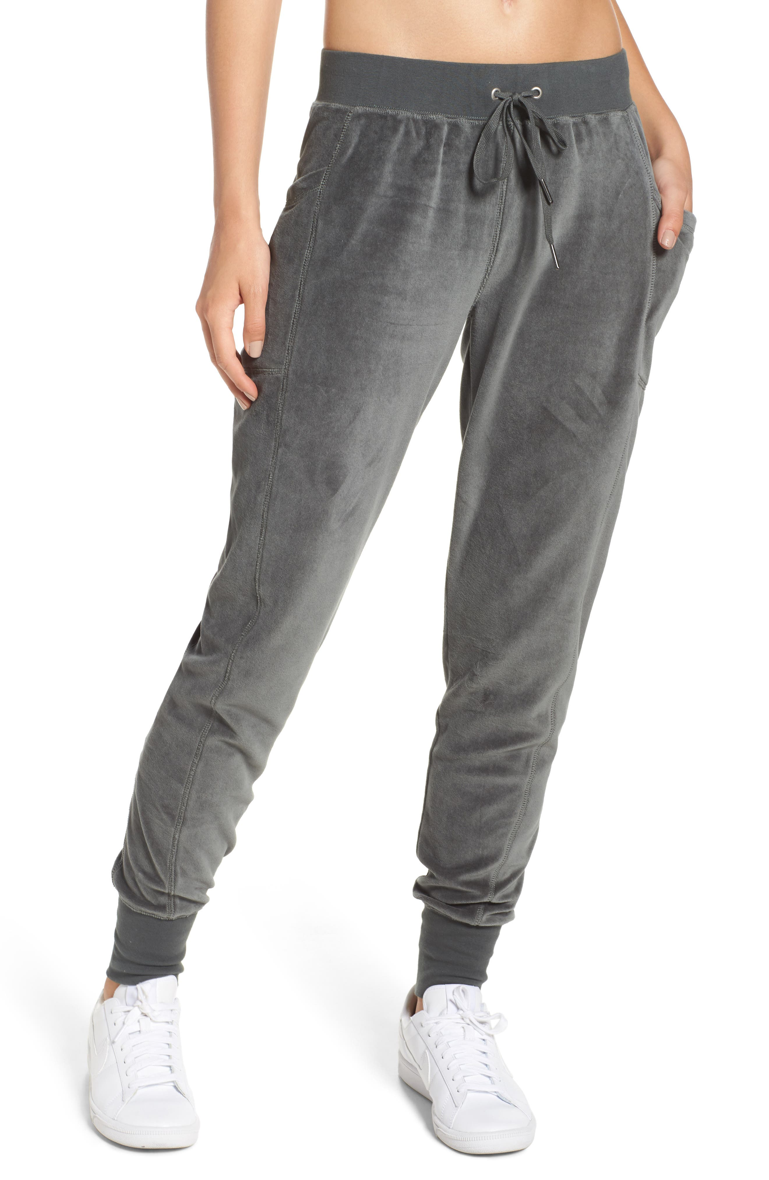 Zella Lexi Slim Velour Leggings