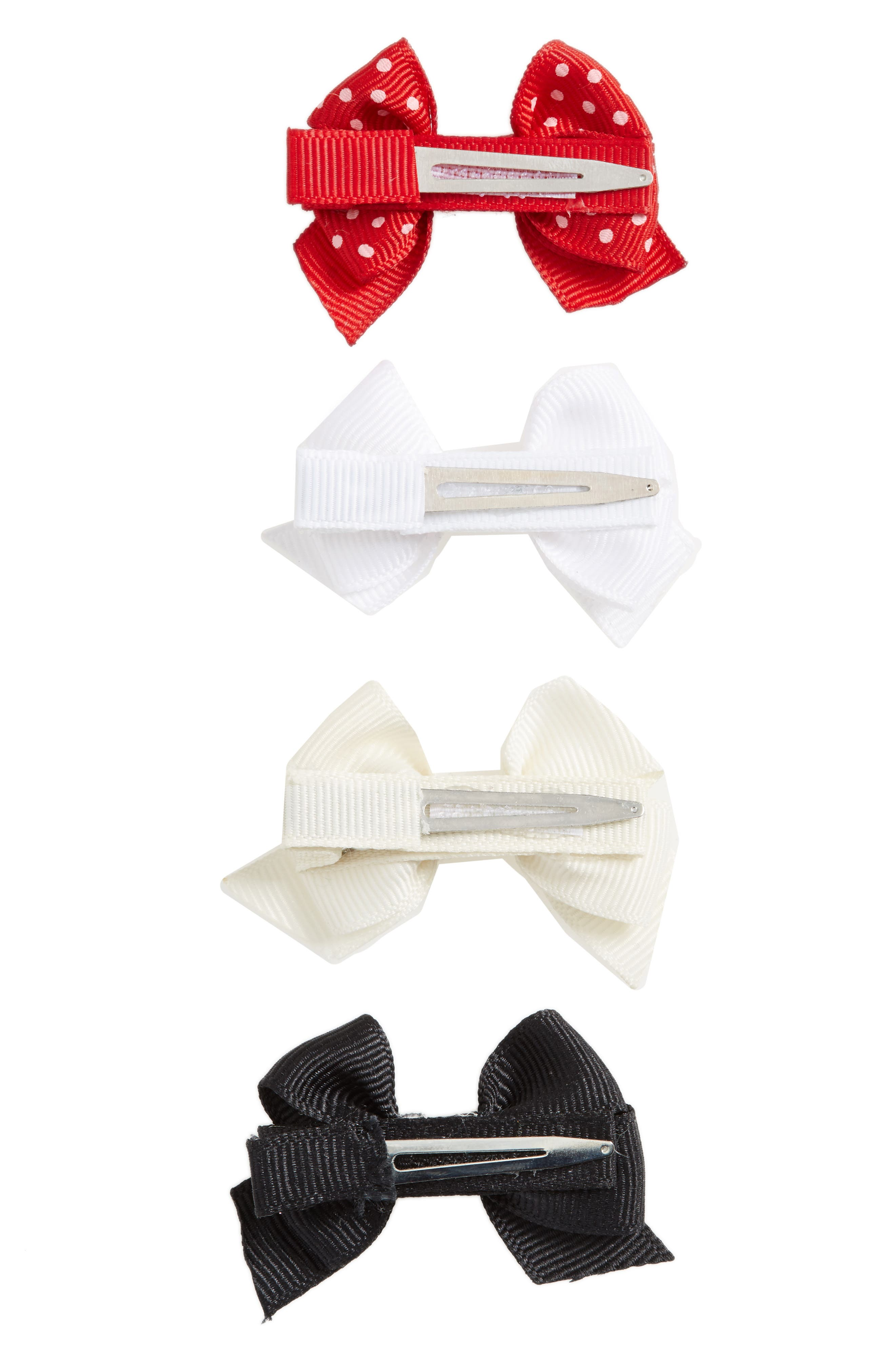 Alternate Image 2  - PLH Bows & Laces Bow Clips (Set of 4) (Baby Girls)