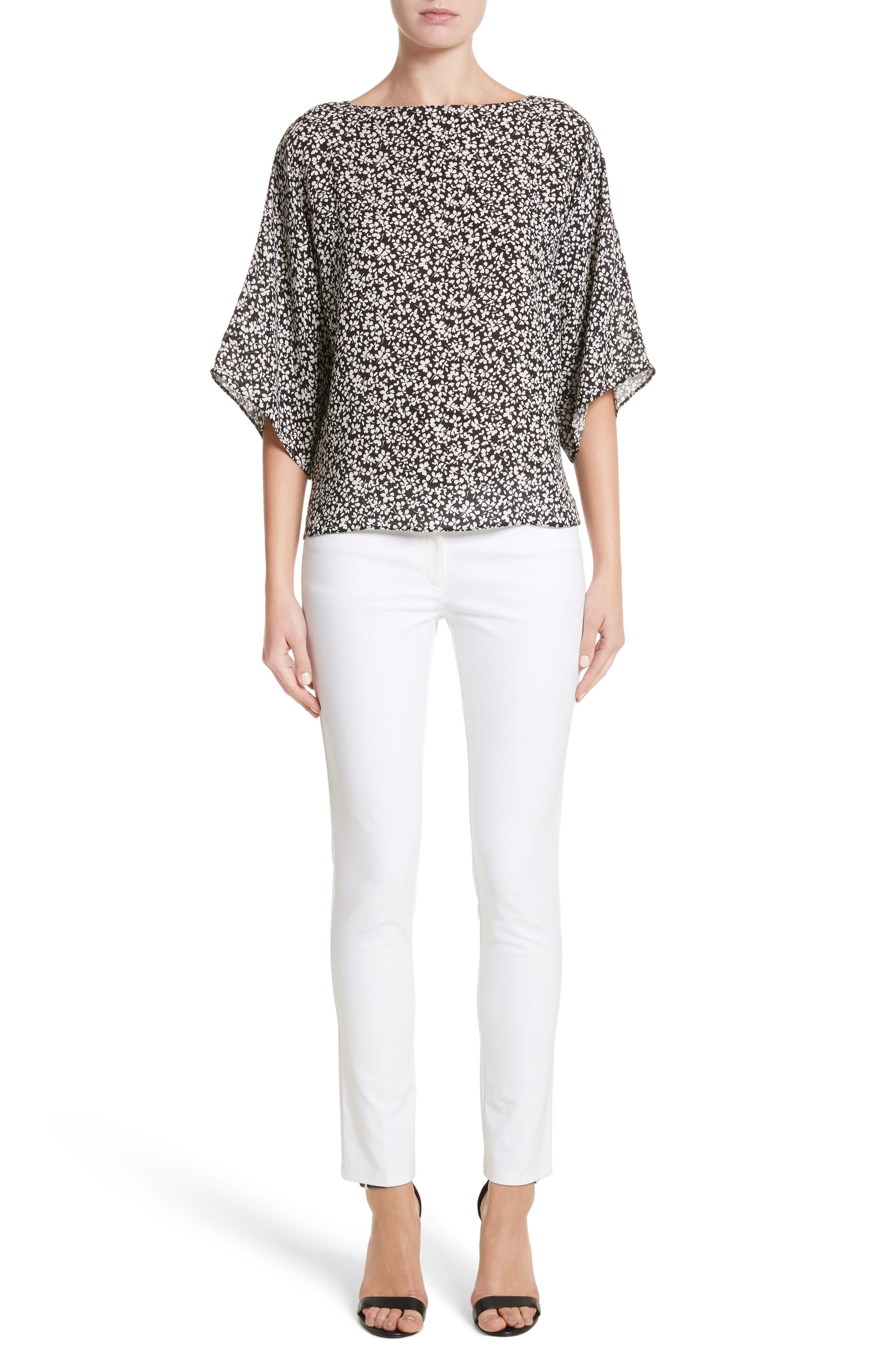 Alternate Image 8  - Michael Kors Samantha Skinny Jeans (Optic White)