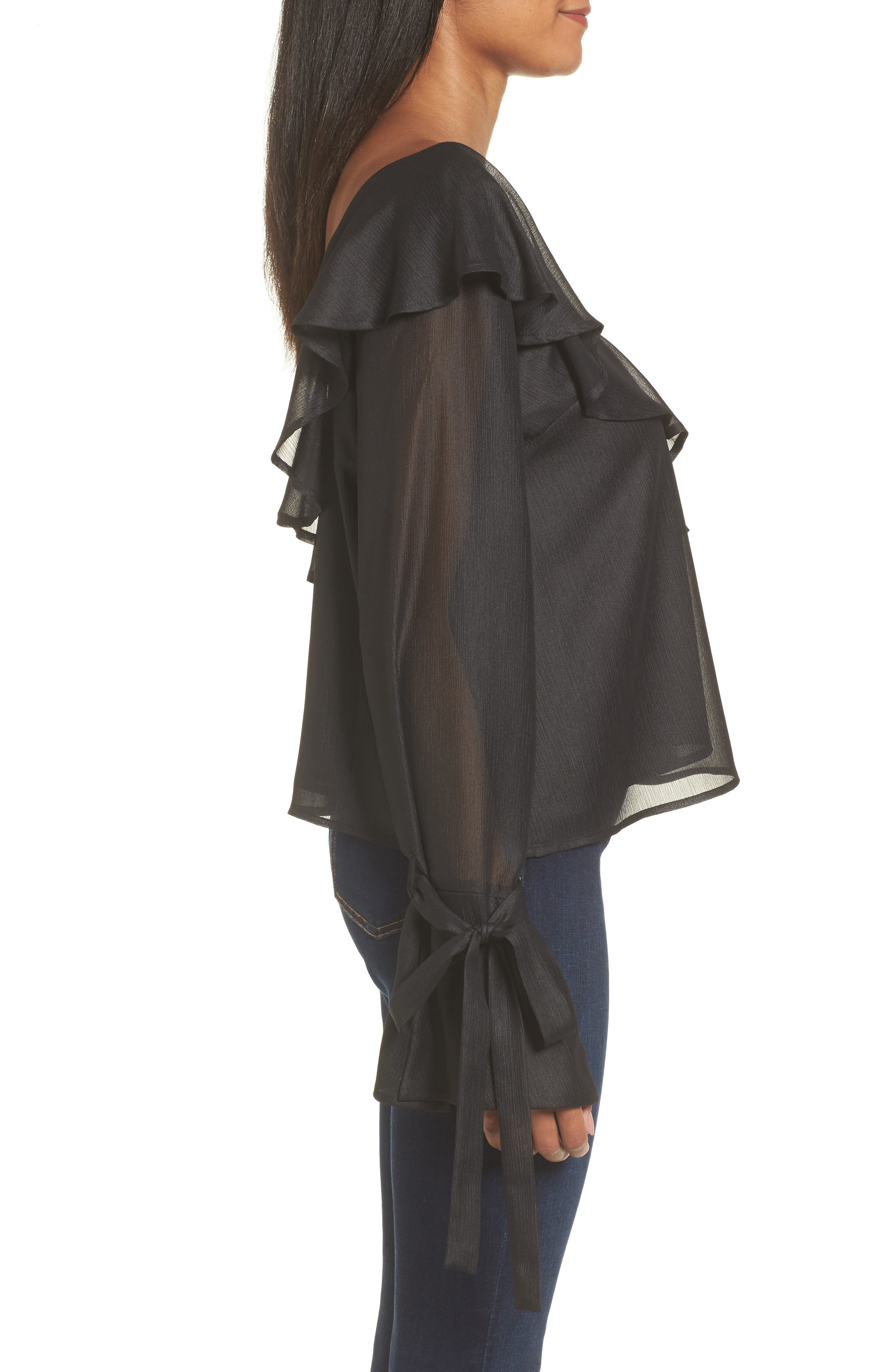 Alternate Image 3  - Ruffle One-Shoulder Blouse