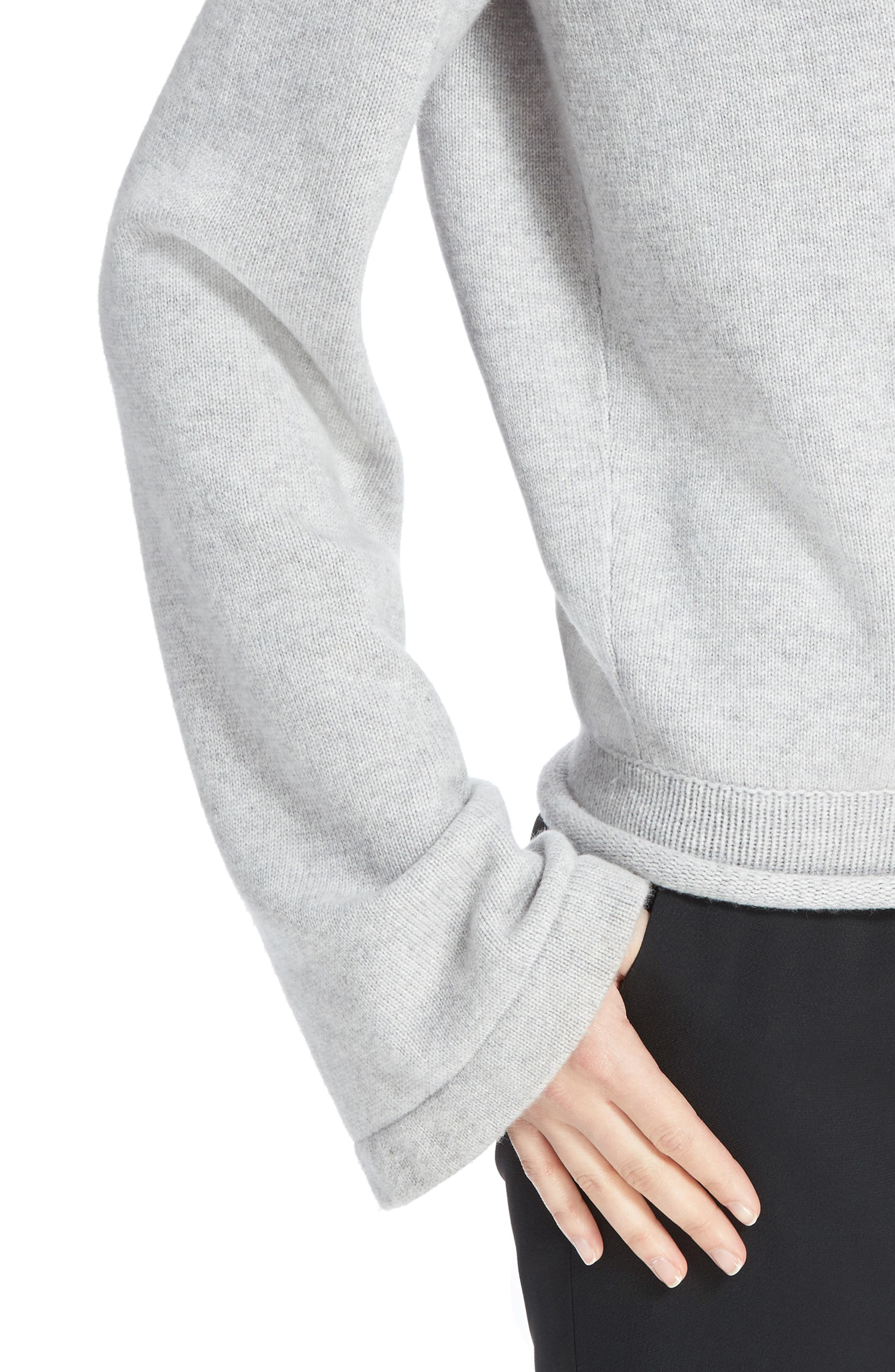 Iconic Cashmere Sweater,                             Alternate thumbnail 4, color,                             Cozy Grey