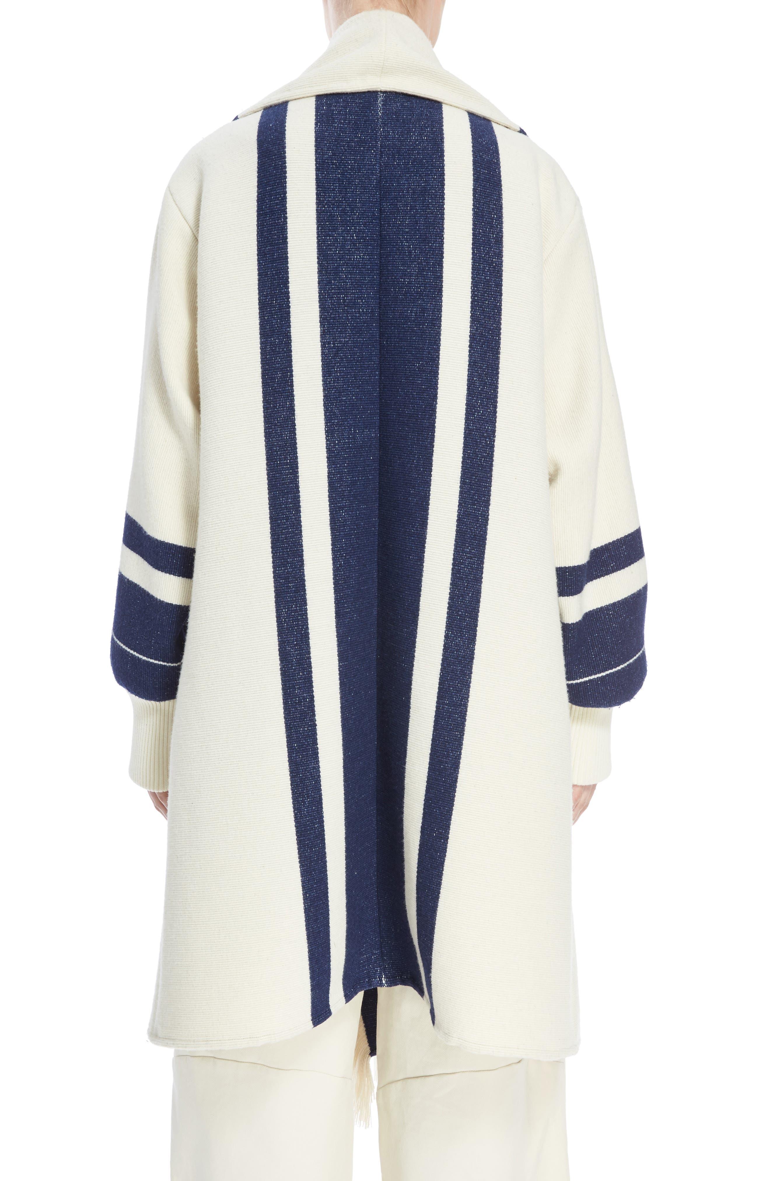 Alternate Image 2  - Chloé Stripe Blanket Coat
