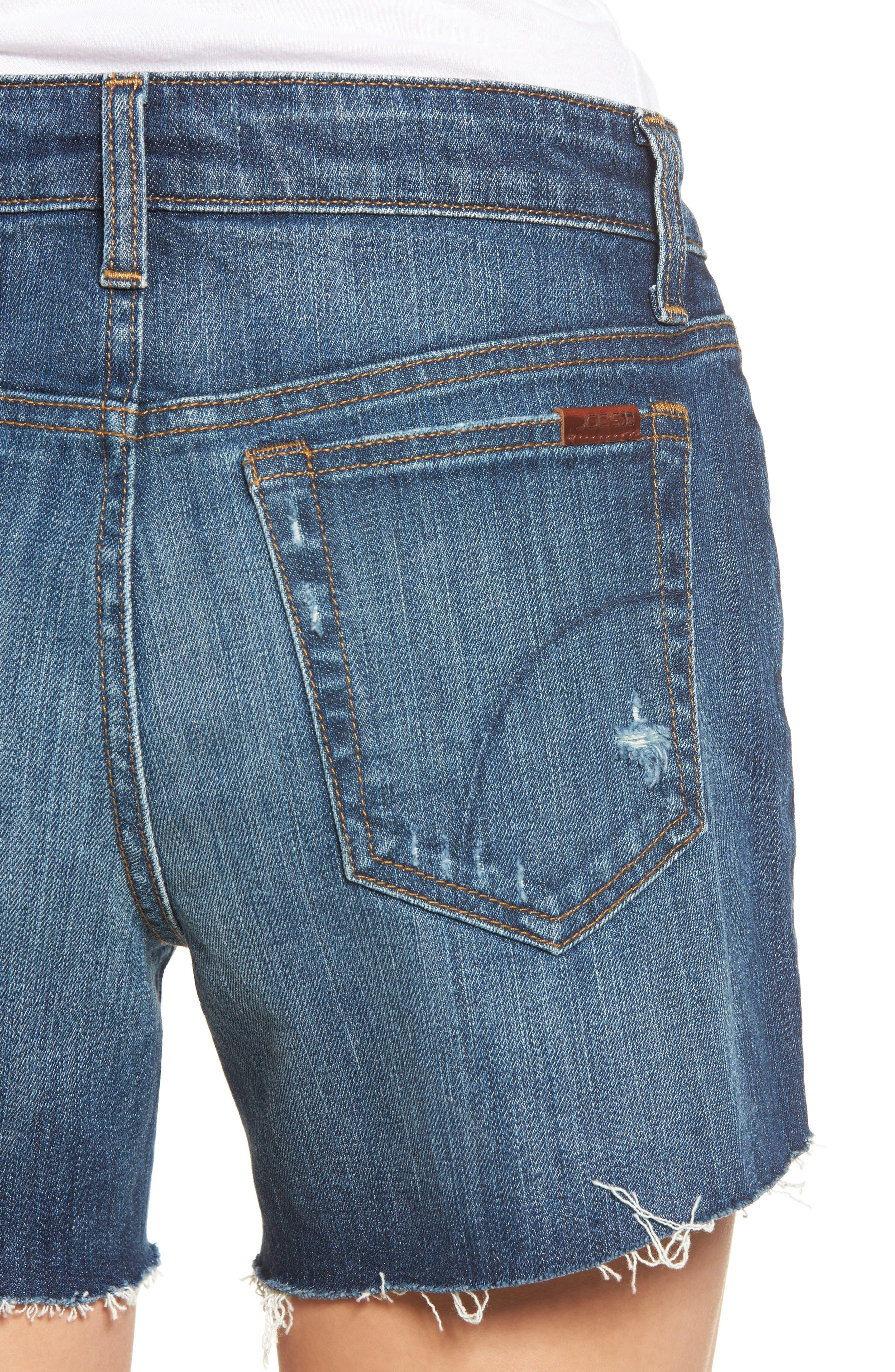 Alternate Image 4  - Joe's Ozzie Cutoff Denim Shorts (Maura)