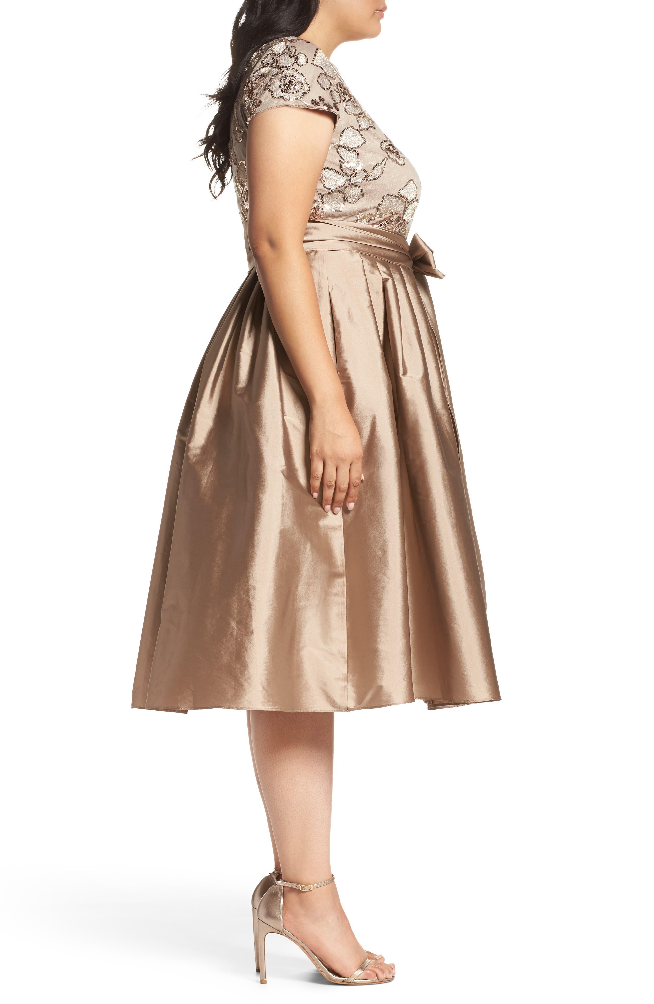 Alternate Image 3  - Adrianna Papell Embellished Bodice Party Dress (Plus Size)