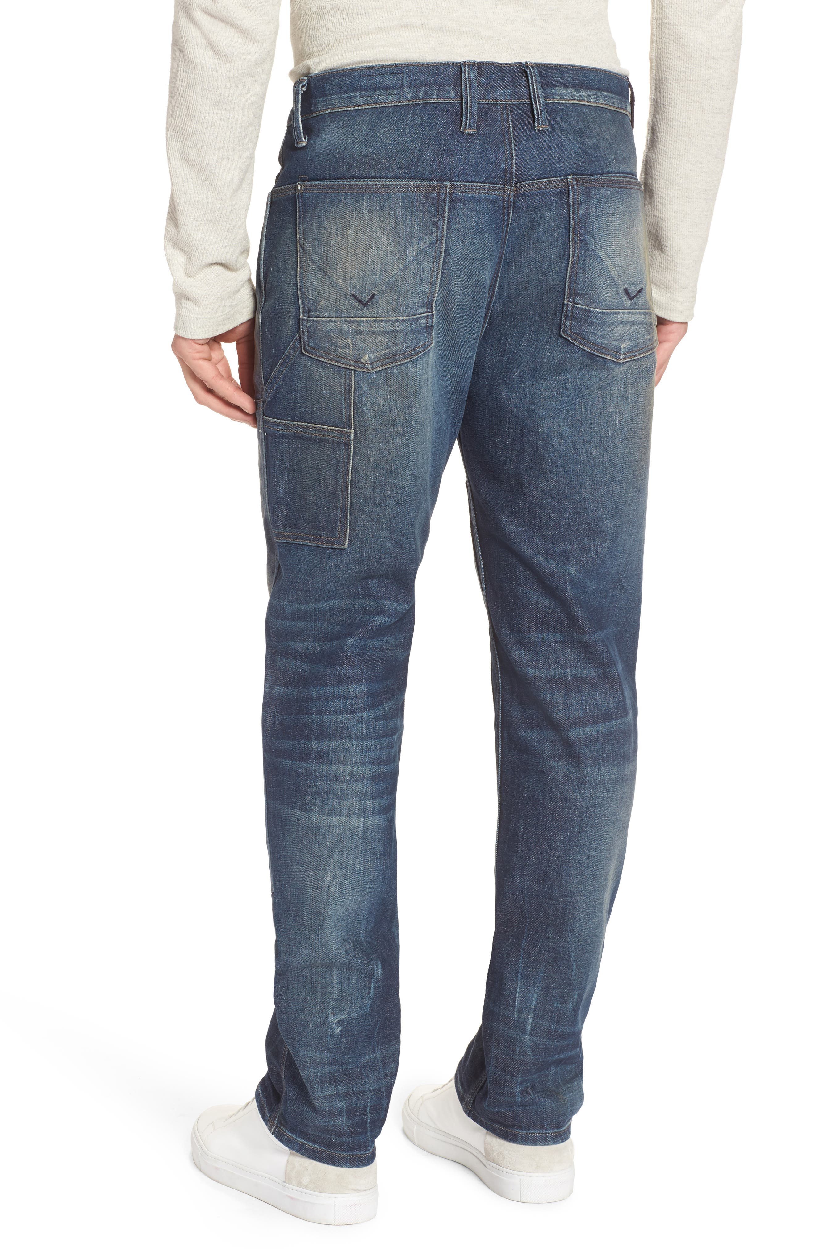 Hunter Straight Fit Jeans,                             Alternate thumbnail 2, color,                             Virus