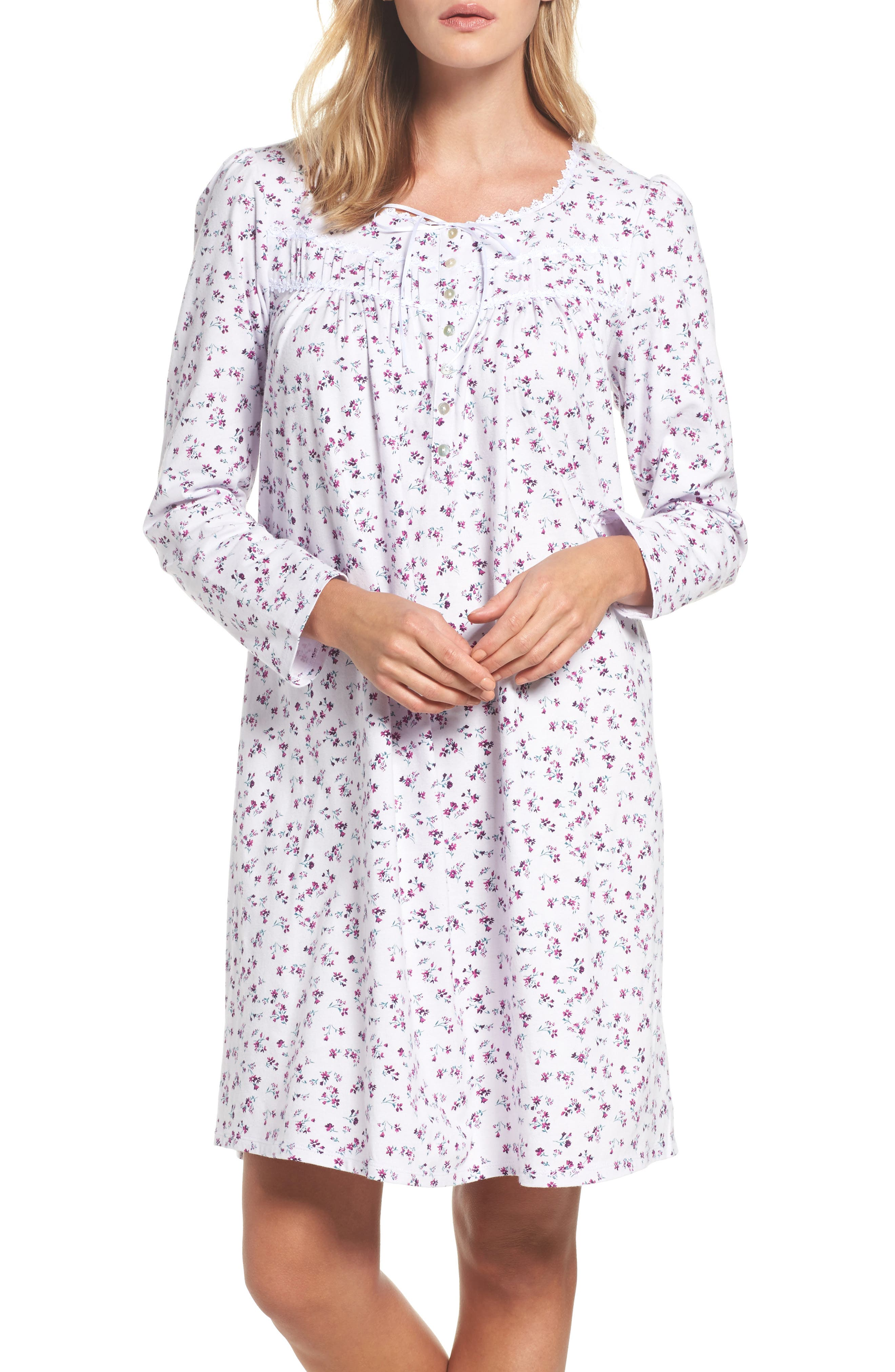 Short Nightgown,                         Main,                         color, Lilac Ditsy