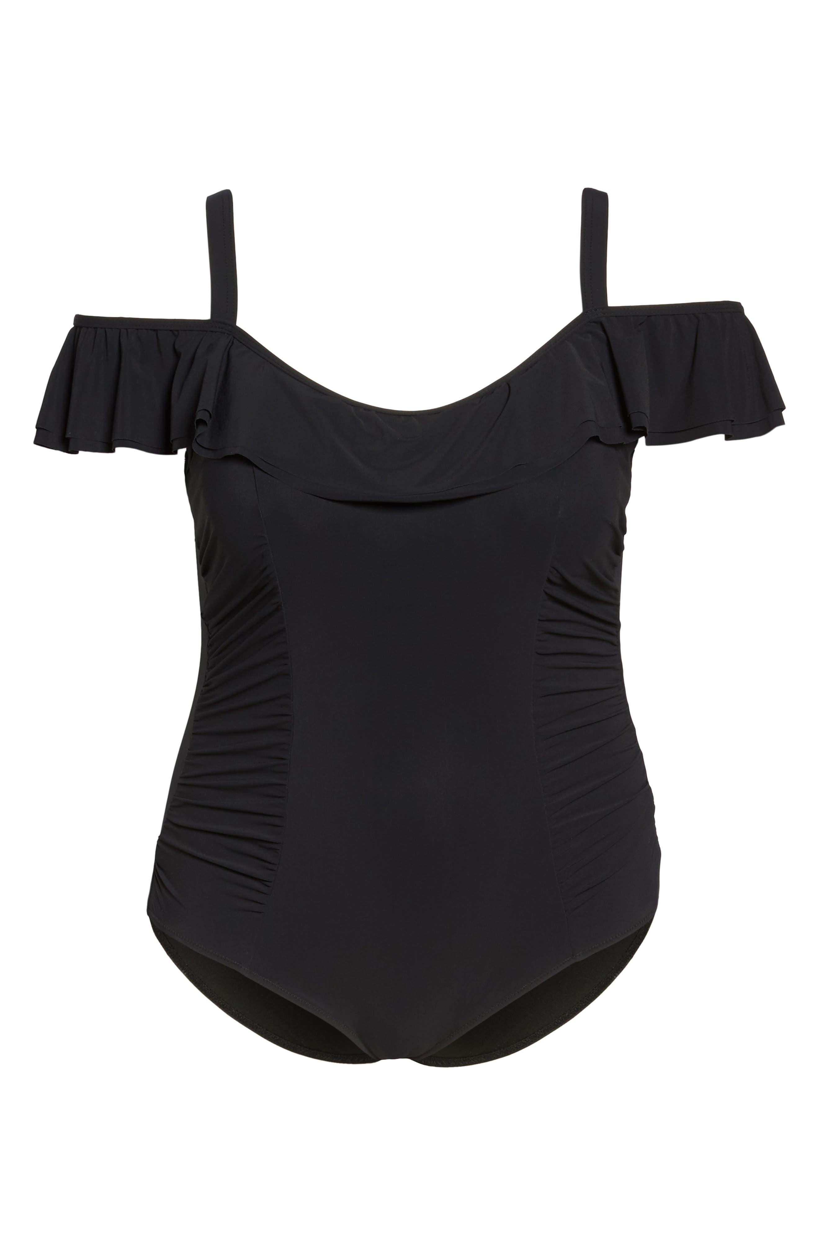 Alternate Image 6  - Profile by Gottex Cold Shoulder One-Piece Swimsuit (Plus Size)