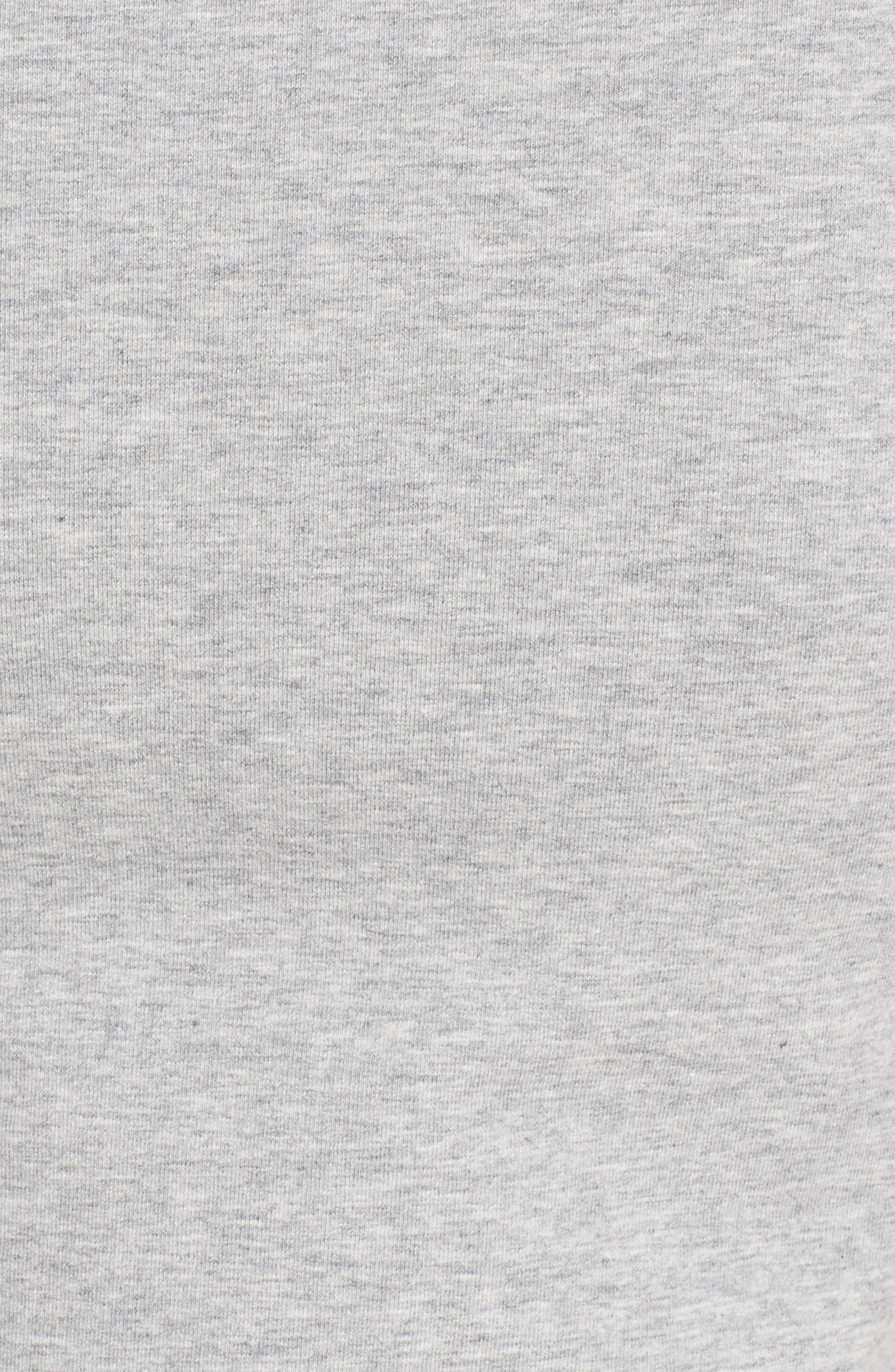 Lace-Up Sweatshirt,                             Alternate thumbnail 5, color,                             Grey Heather