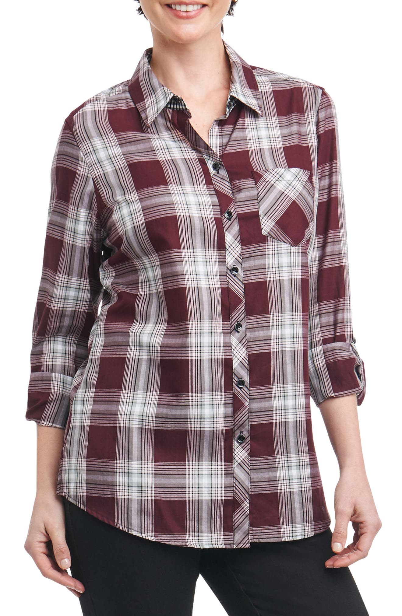 Addison Plaid Shirt,                             Main thumbnail 1, color,                             Multi Plaid